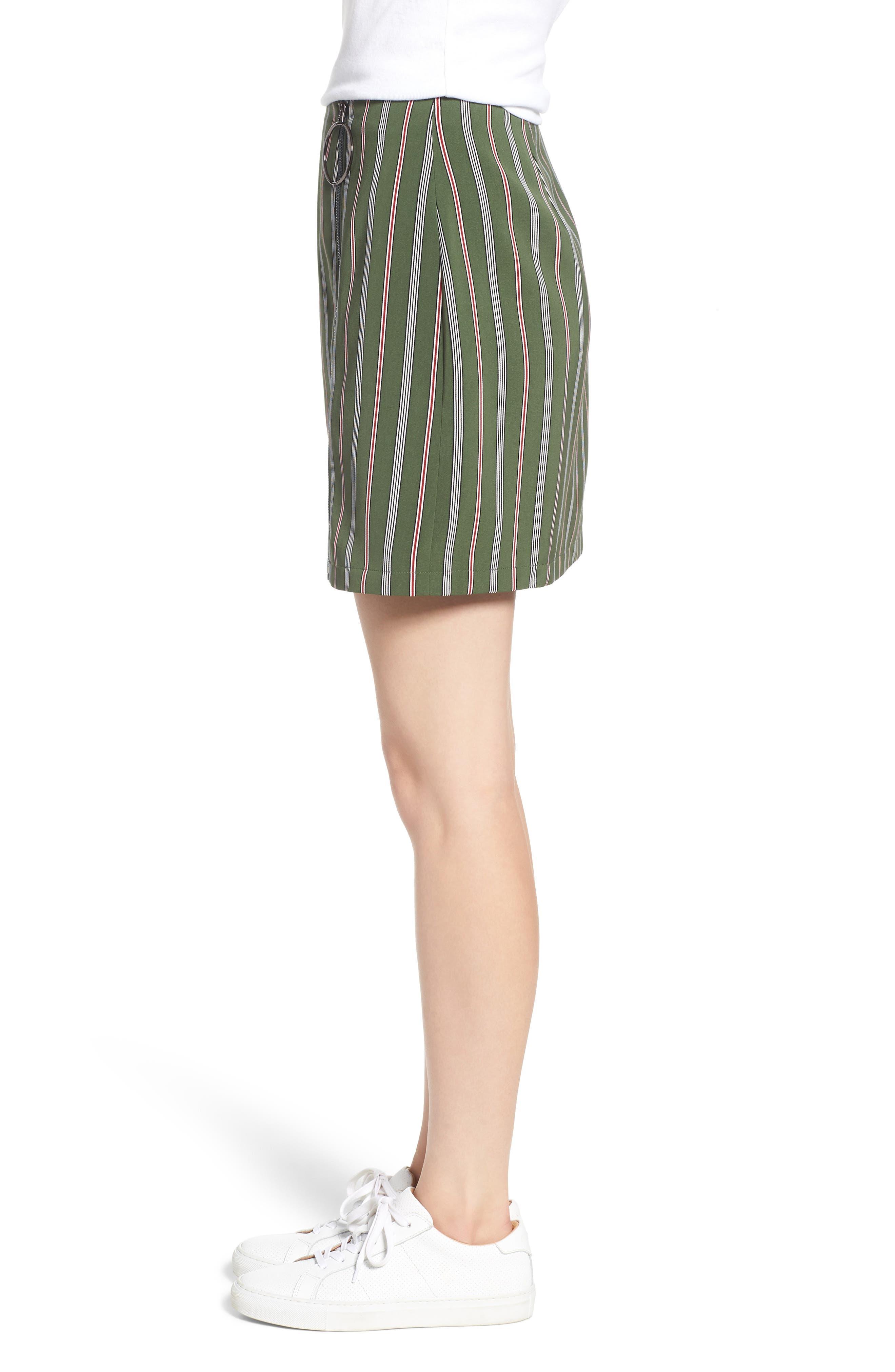 Axial Stripe Miniskirt,                             Alternate thumbnail 3, color,                             300