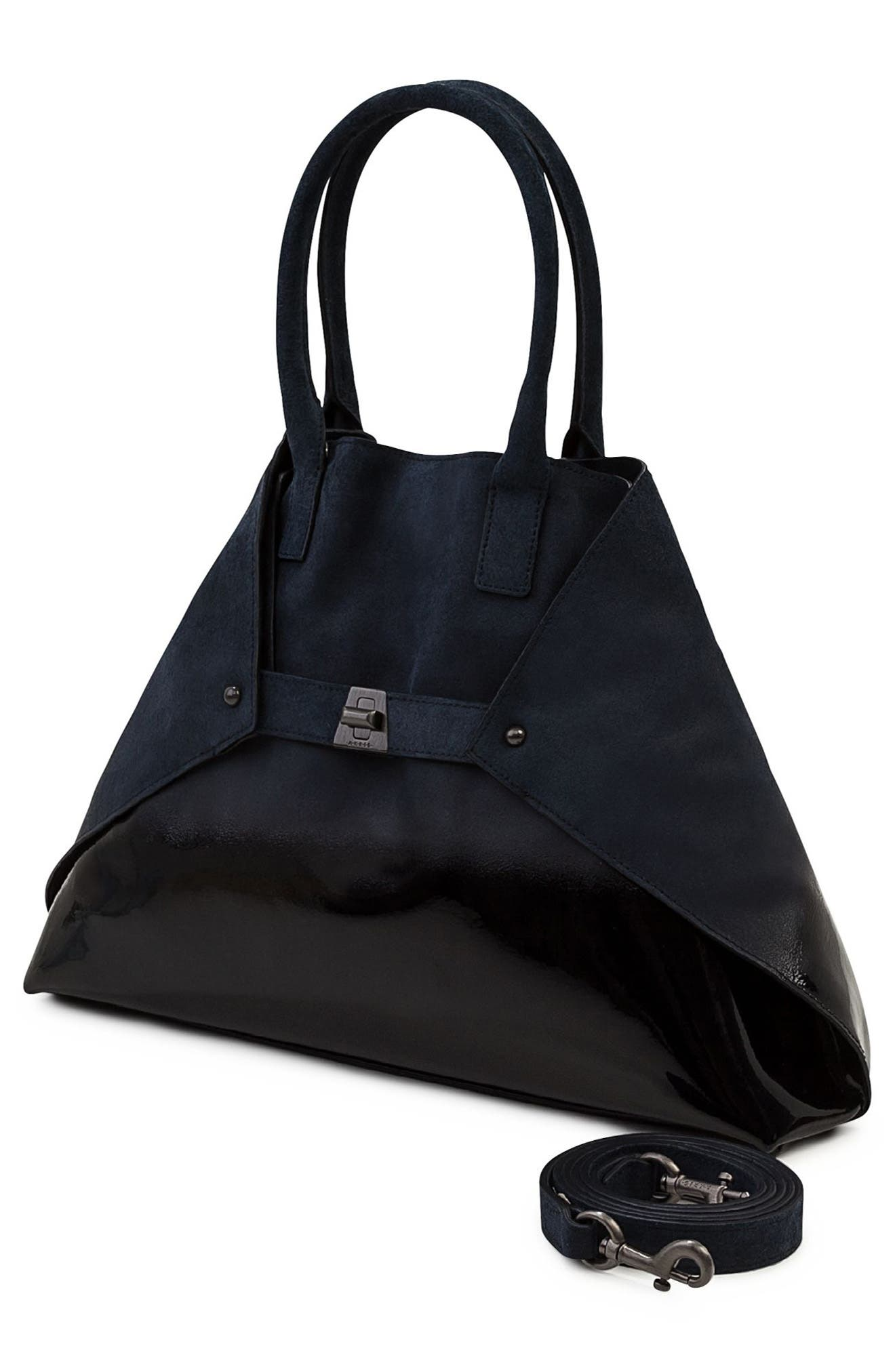 Small AI Suede Tote,                             Alternate thumbnail 2, color,                             478