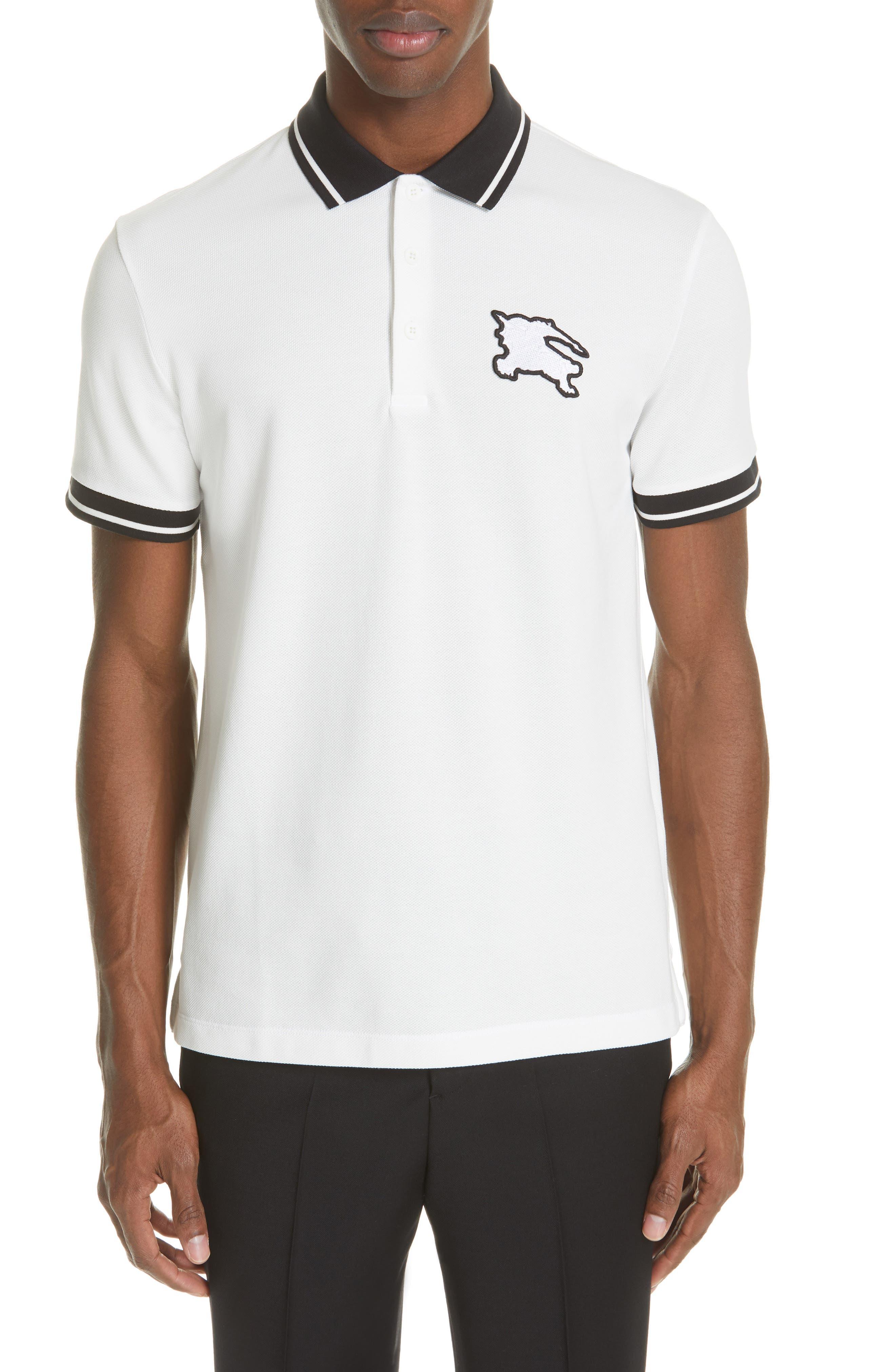Boedon Appliqué Polo, Main, color, WHITE