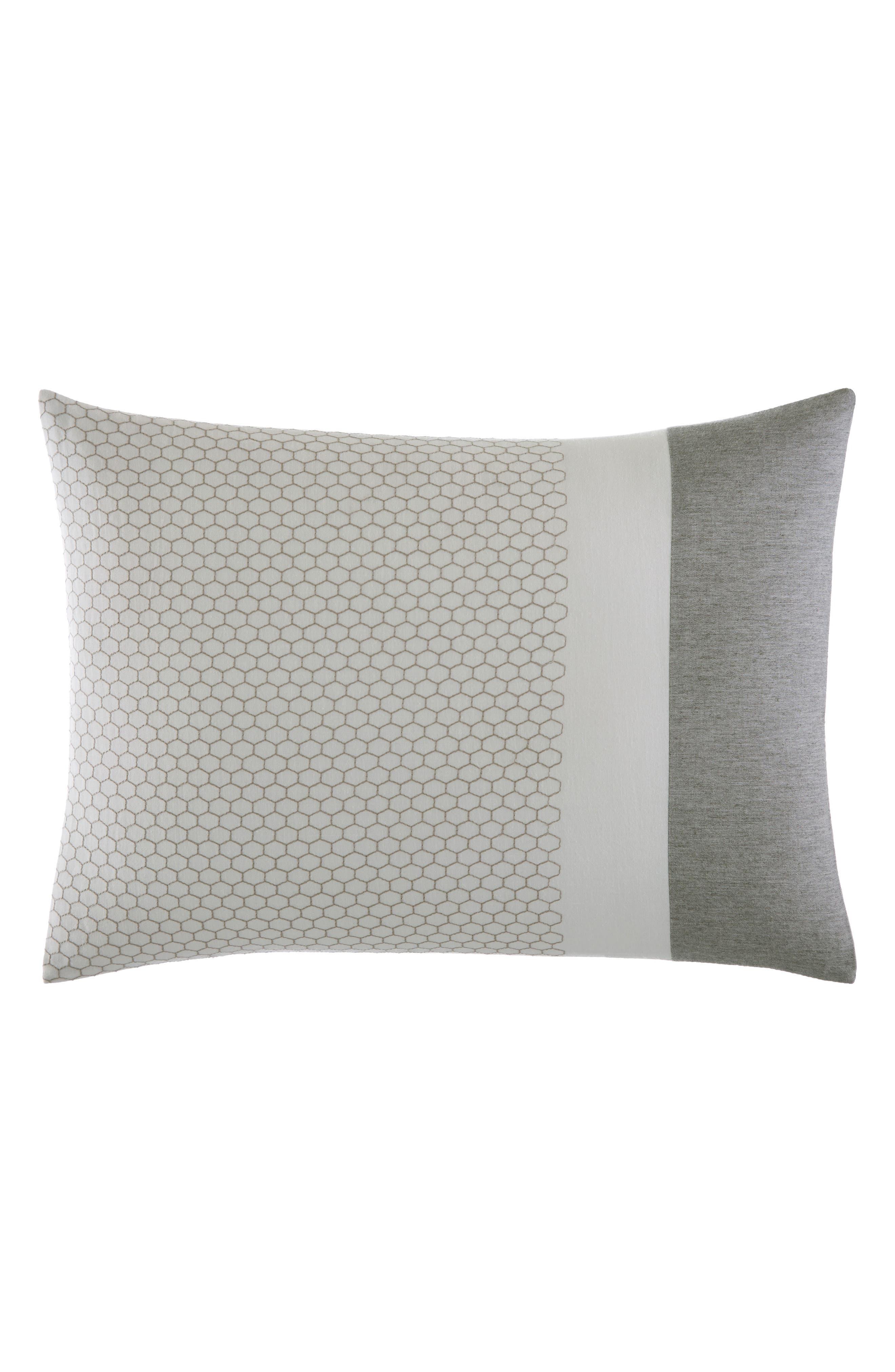 Tuille Floral Breakfast Pillow,                             Main thumbnail 1, color,                             MEDIUM GRAY