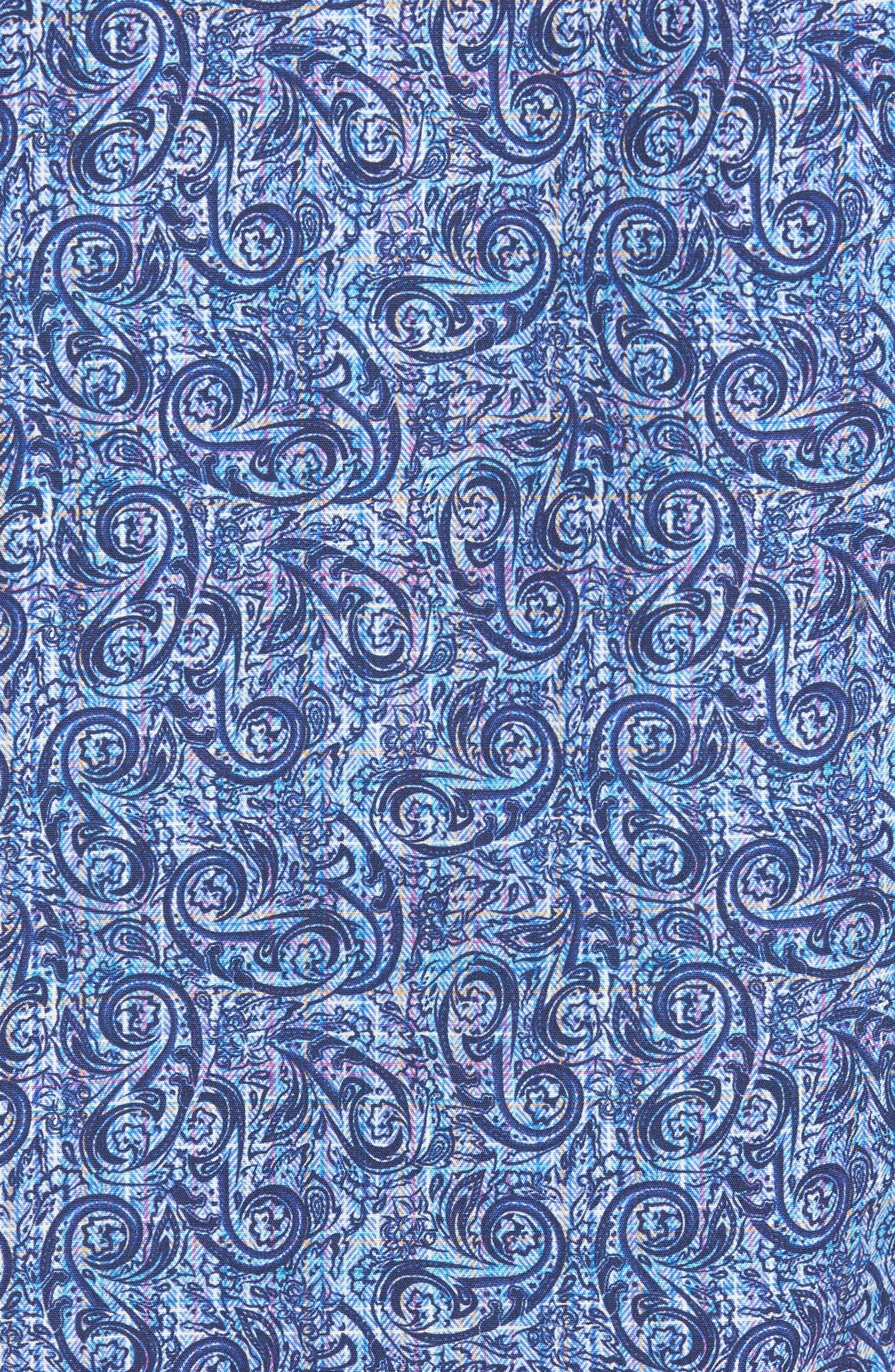 Slim Fit Paisley Plaid FX Sport Shirt,                             Alternate thumbnail 5, color,                             410