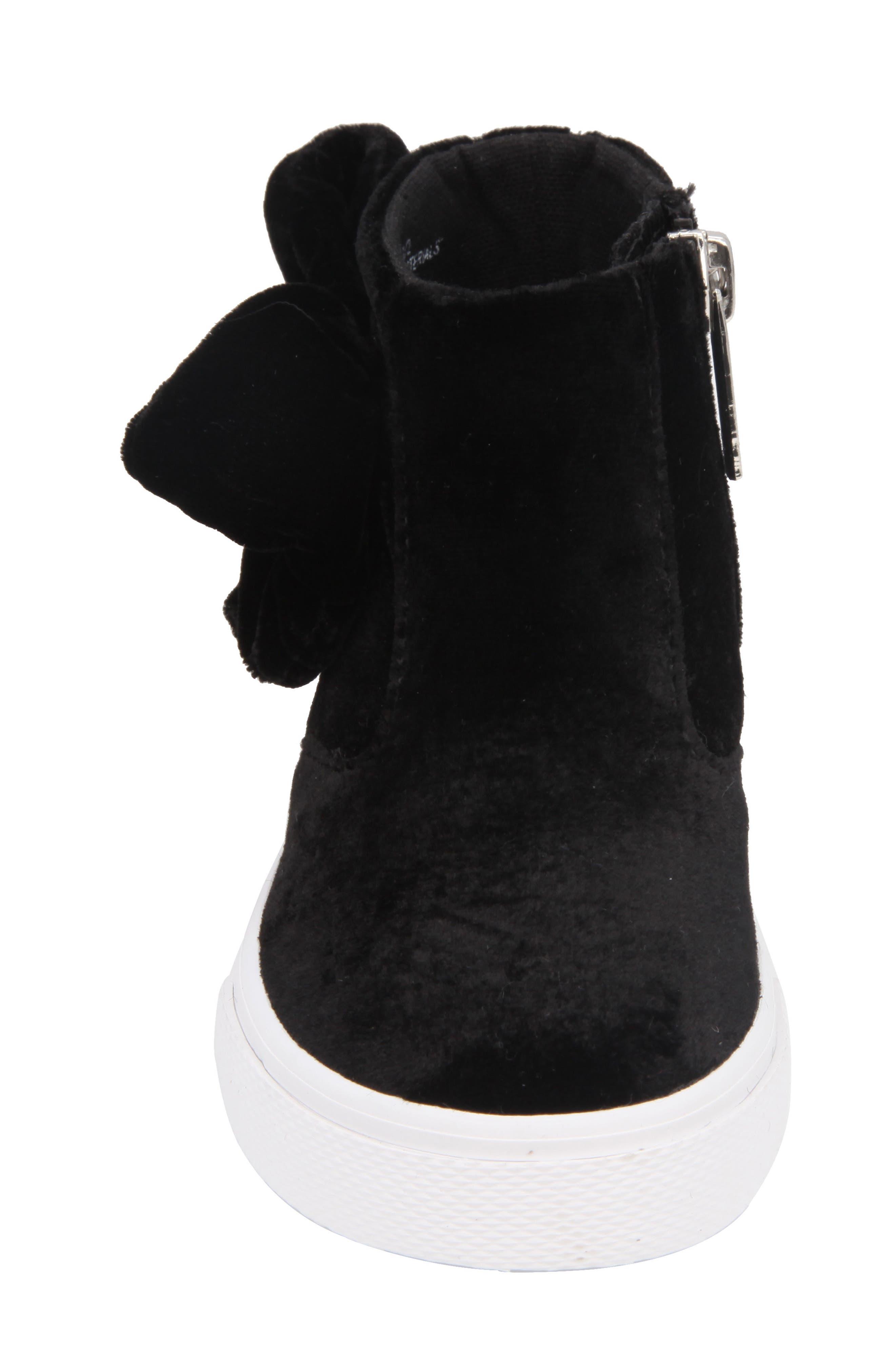 Harolyn Bow Bootie Sneaker,                             Alternate thumbnail 4, color,                             005