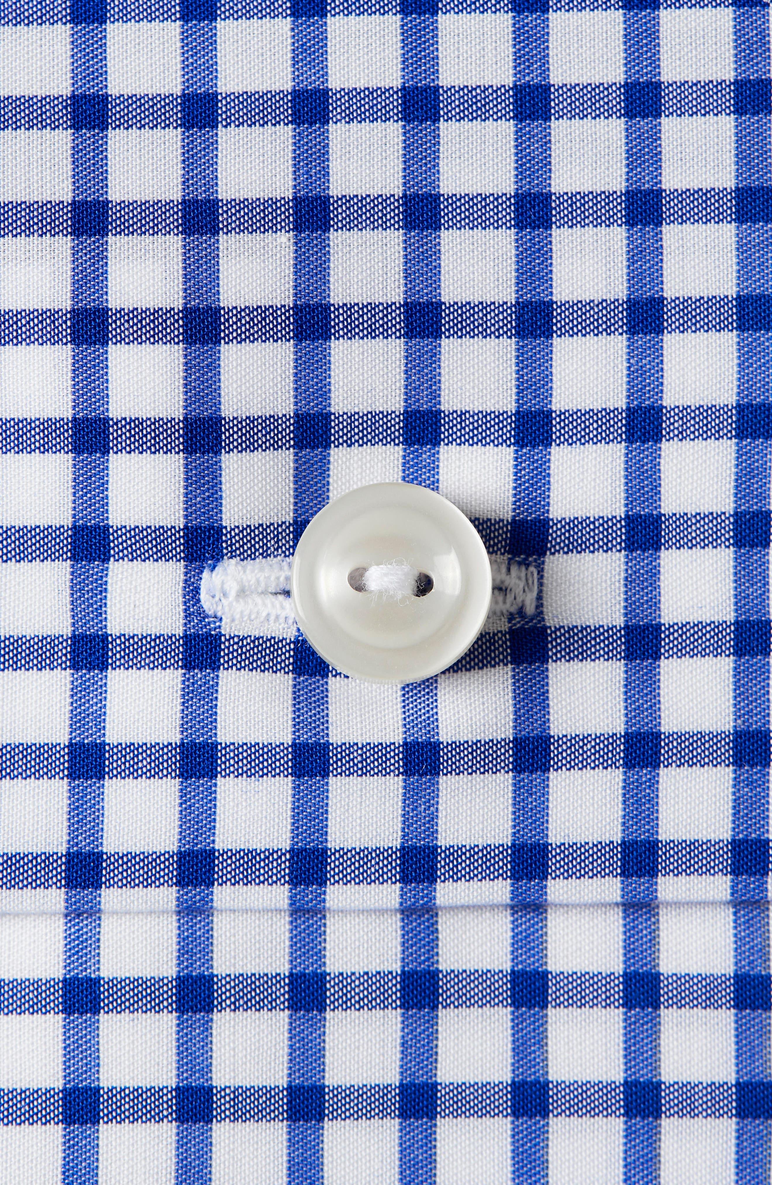 Contemporary Fit Check Dress Shirt,                             Alternate thumbnail 2, color,                             BLUE