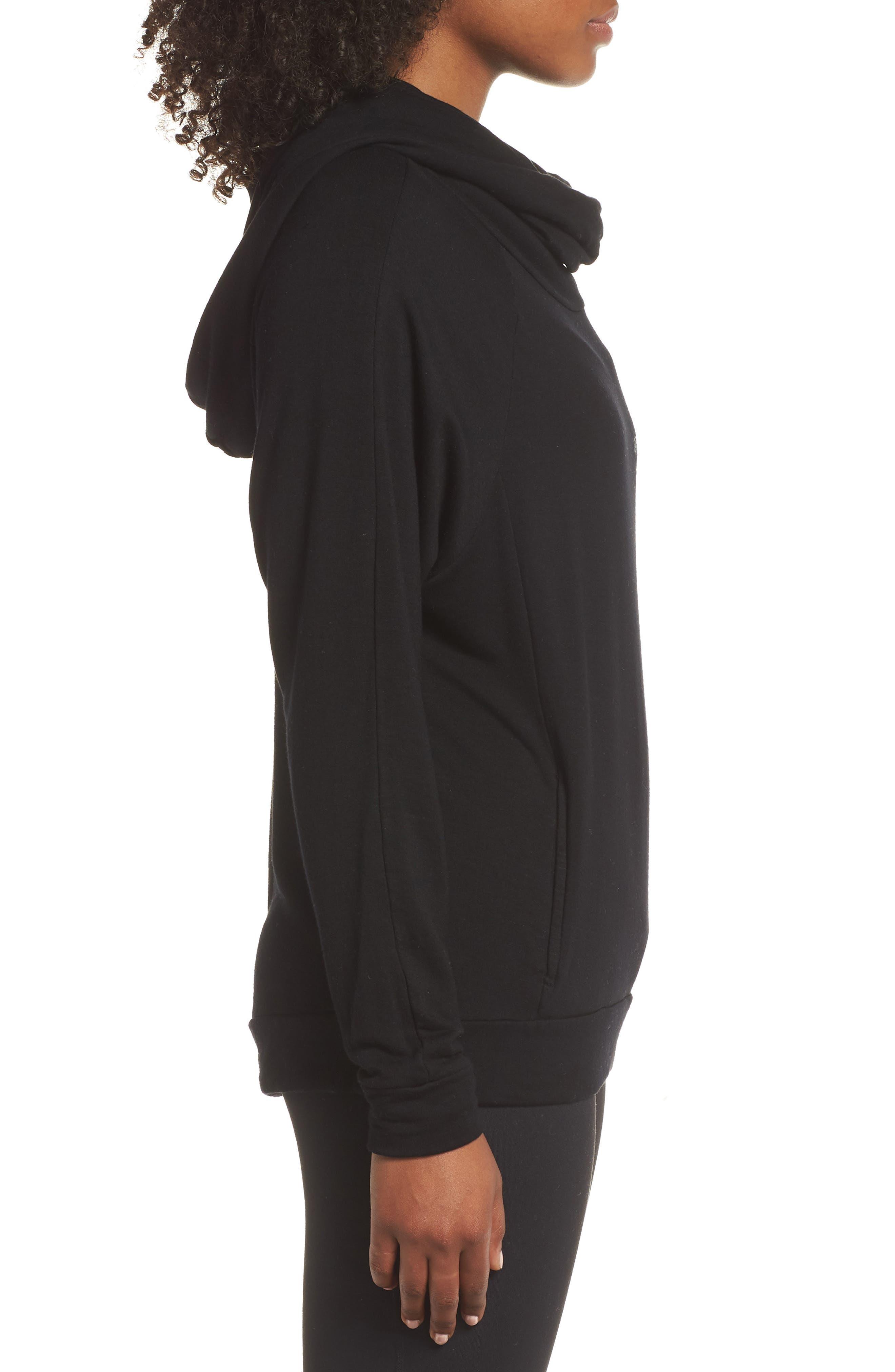 Grateful Cowl Neck Pullover,                             Alternate thumbnail 3, color,                             BLACK SAND