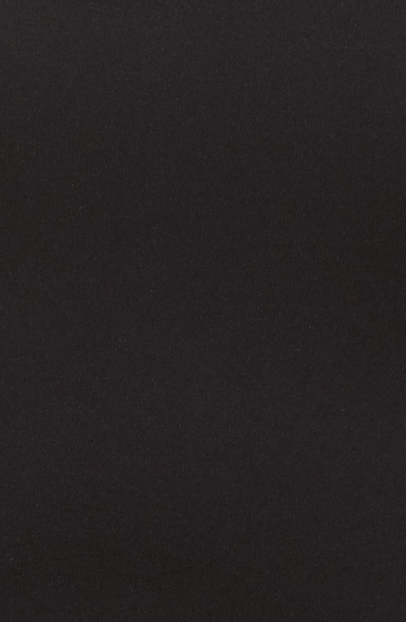 Sheer Blouson Sleeve Sheath Dess,                             Alternate thumbnail 5, color,                             001
