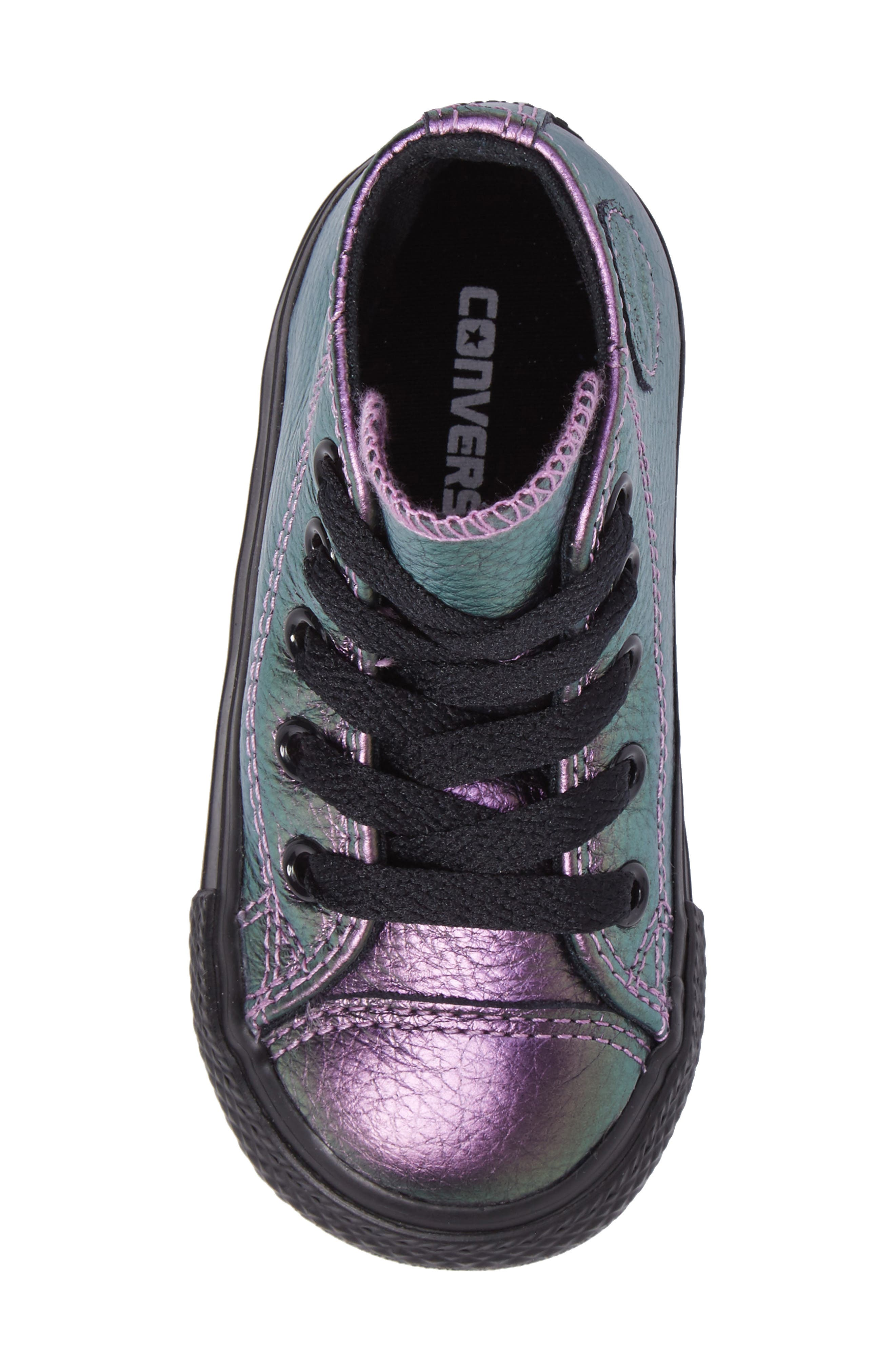 Chuck Taylor<sup>®</sup> All Star<sup>®</sup> Iridescent Leather High Top Sneaker,                             Alternate thumbnail 10, color,