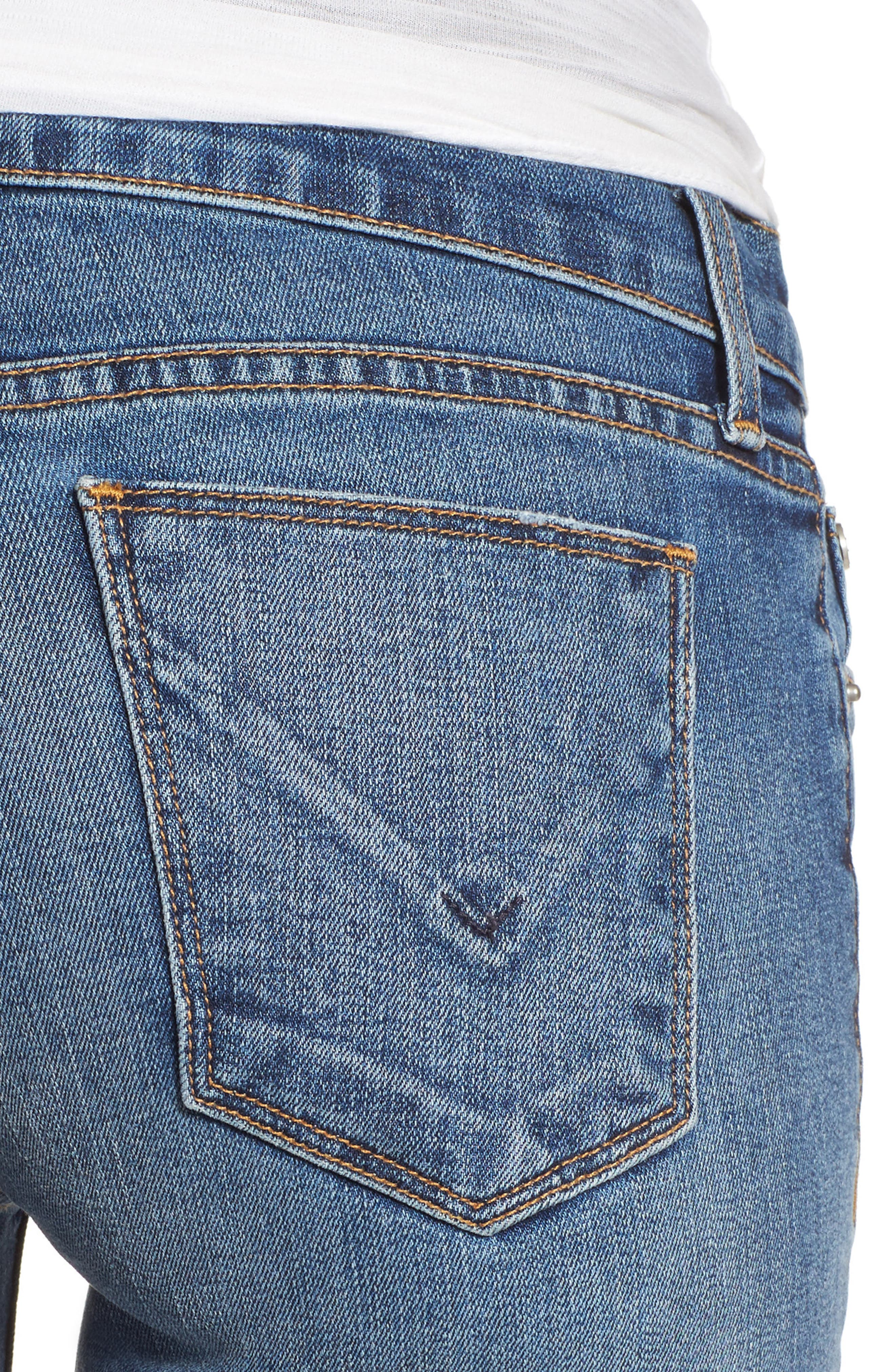 HUDSON JEANS,                             Tally Cuffed Crop Skinny Jeans,                             Alternate thumbnail 4, color,                             426
