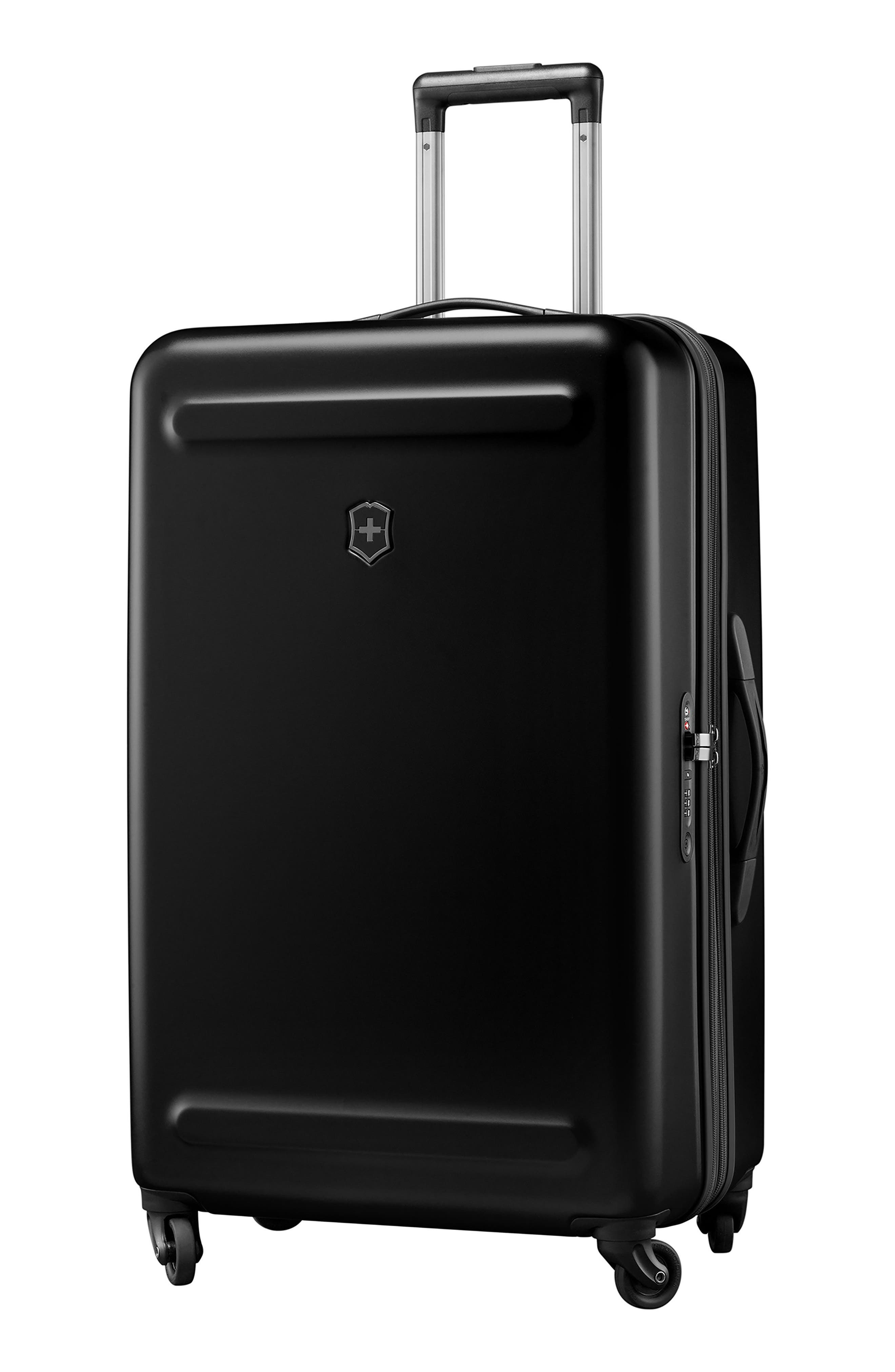 Etherius 30-Inch Wheeled Suitcase,                             Main thumbnail 1, color,                             BLACK