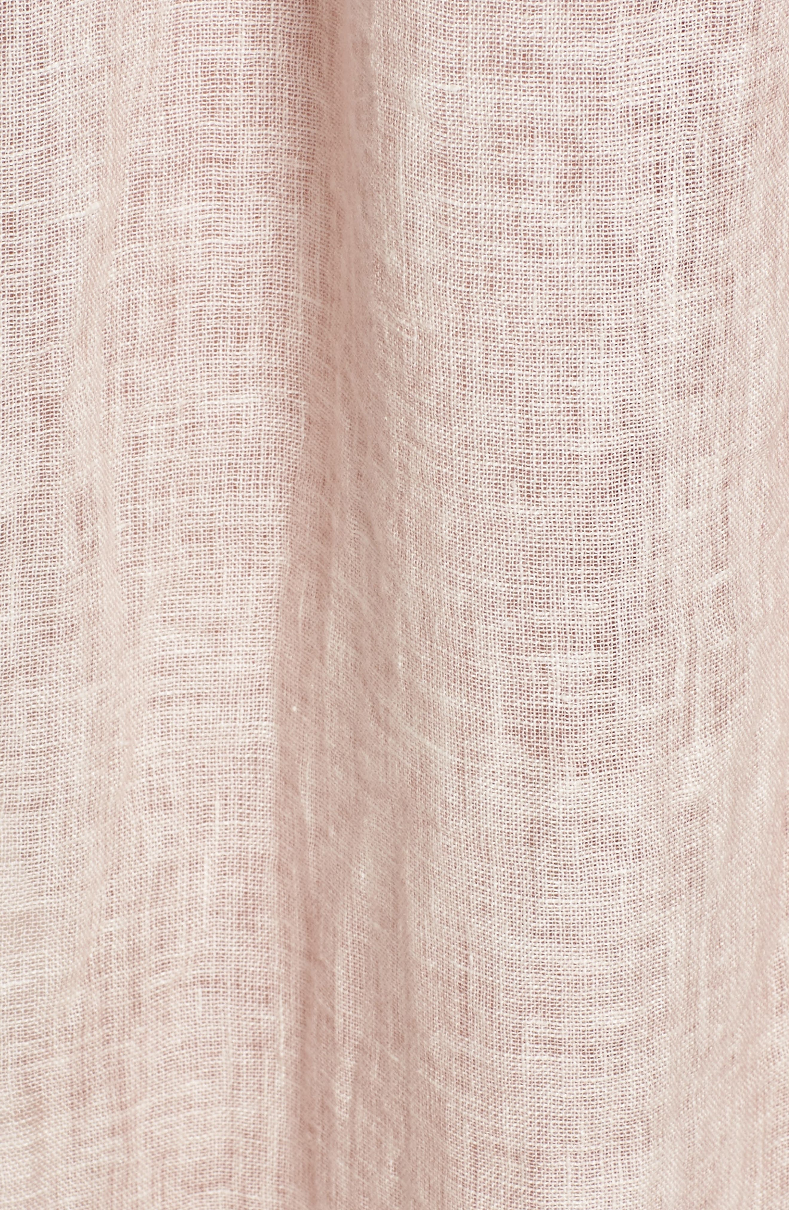 Daisy Linen Cover-Up Dress,                             Alternate thumbnail 5, color,                             652