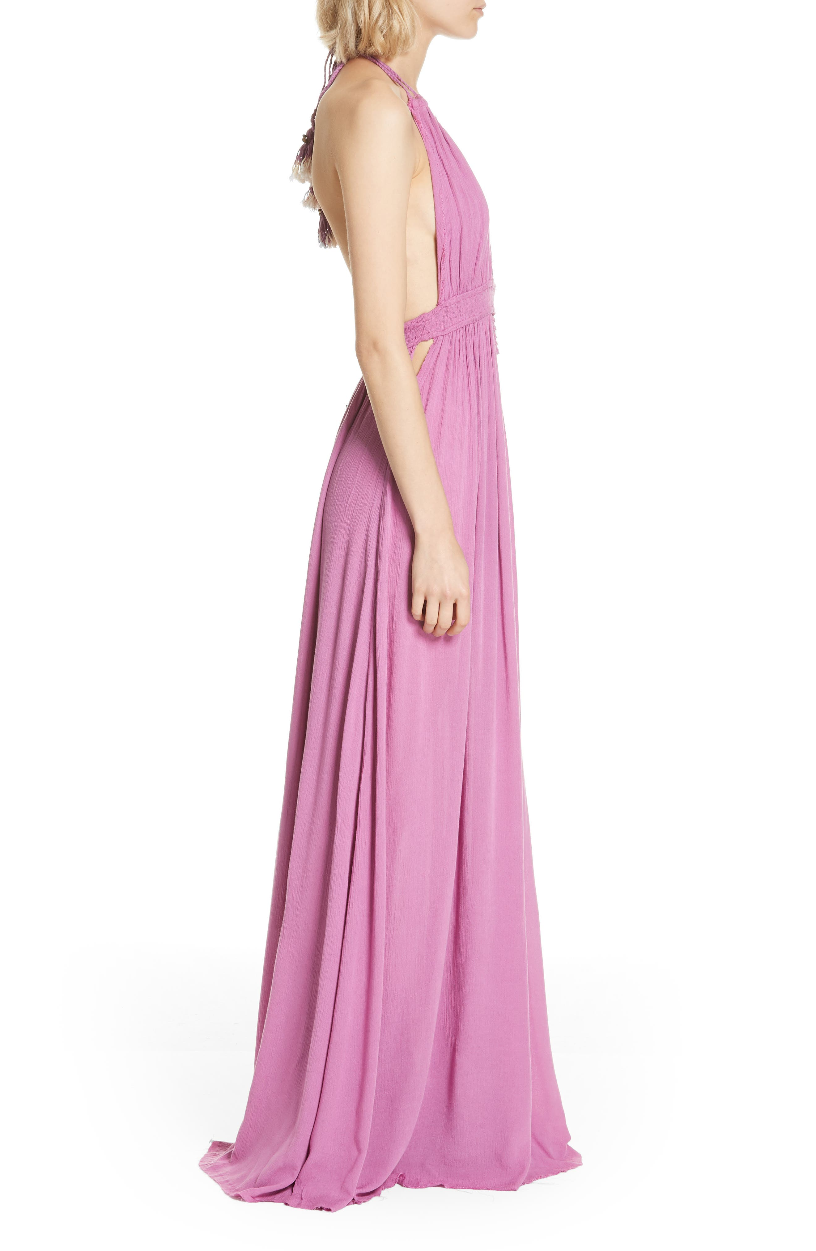 Endless Summer by Free People Look into the Sun Maxi Dress,                             Alternate thumbnail 3, color,                             VIOLET