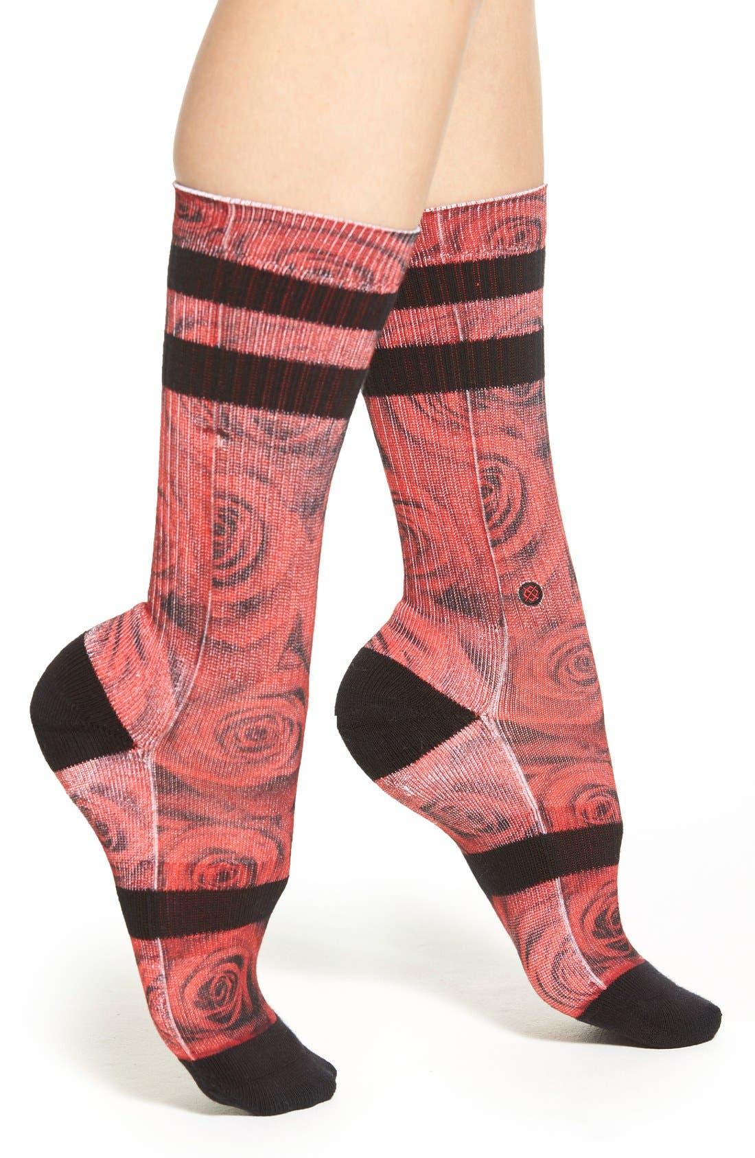 'Romance' Crew Socks,                             Main thumbnail 1, color,                             600