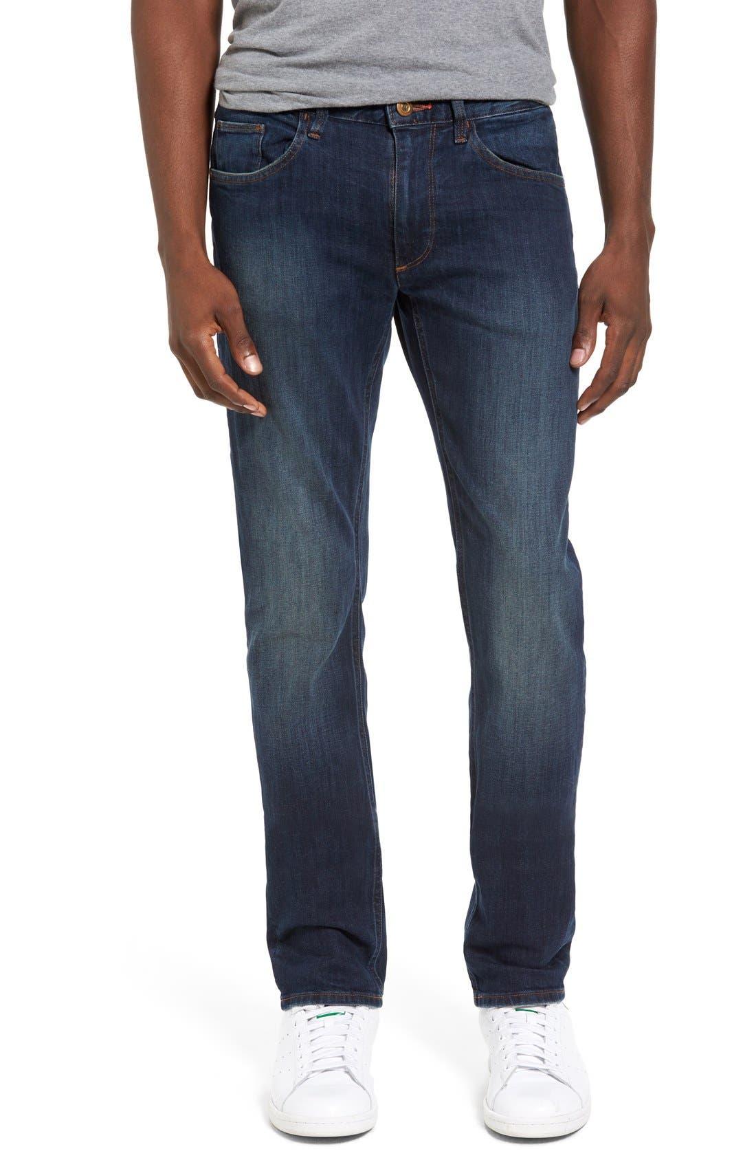 Spitfire Slim Fit Jeans,                             Alternate thumbnail 5, color,                             INDIGO