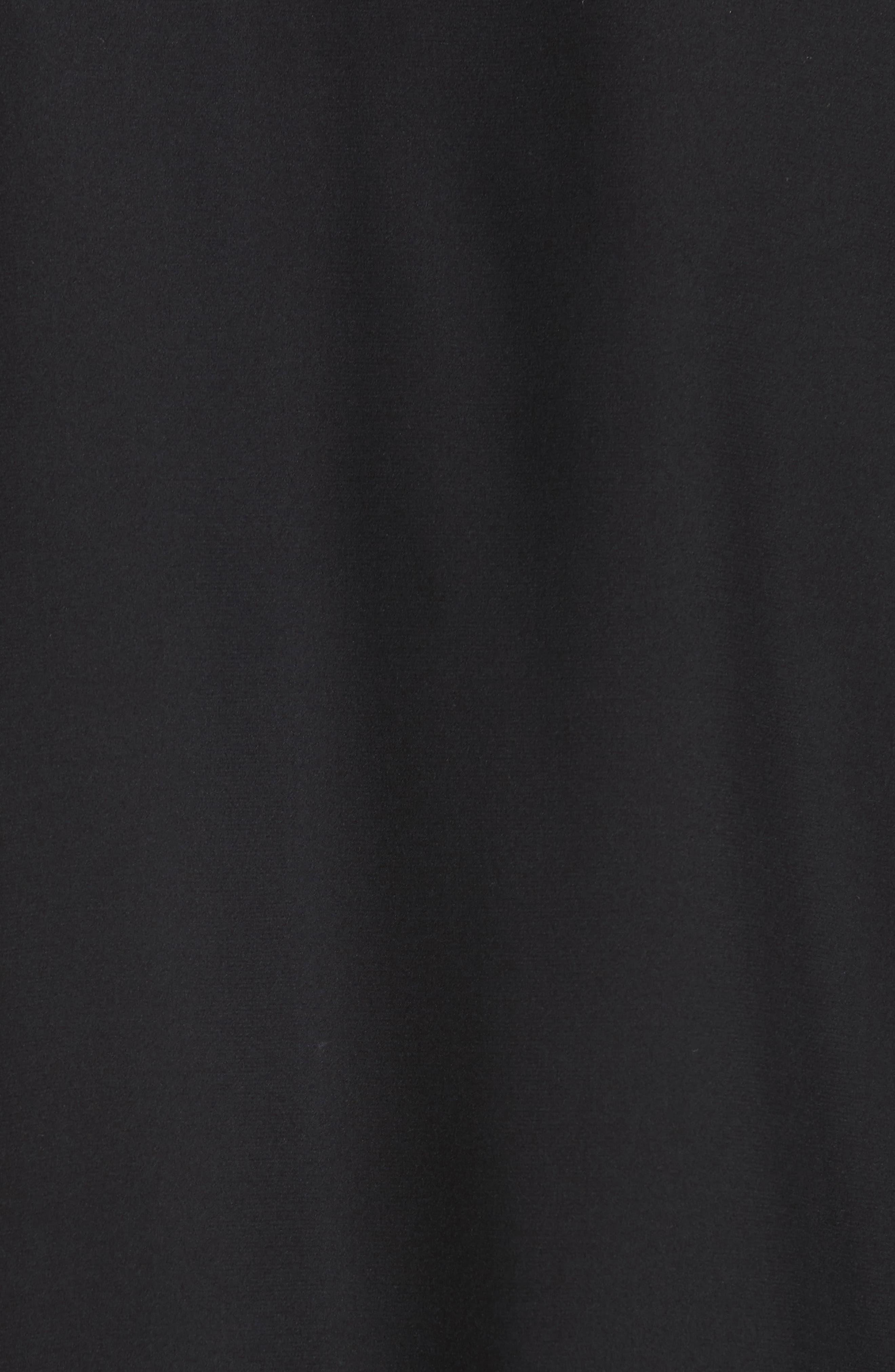 Joan Tie Hem Silk Blouse,                             Alternate thumbnail 5, color,                             001
