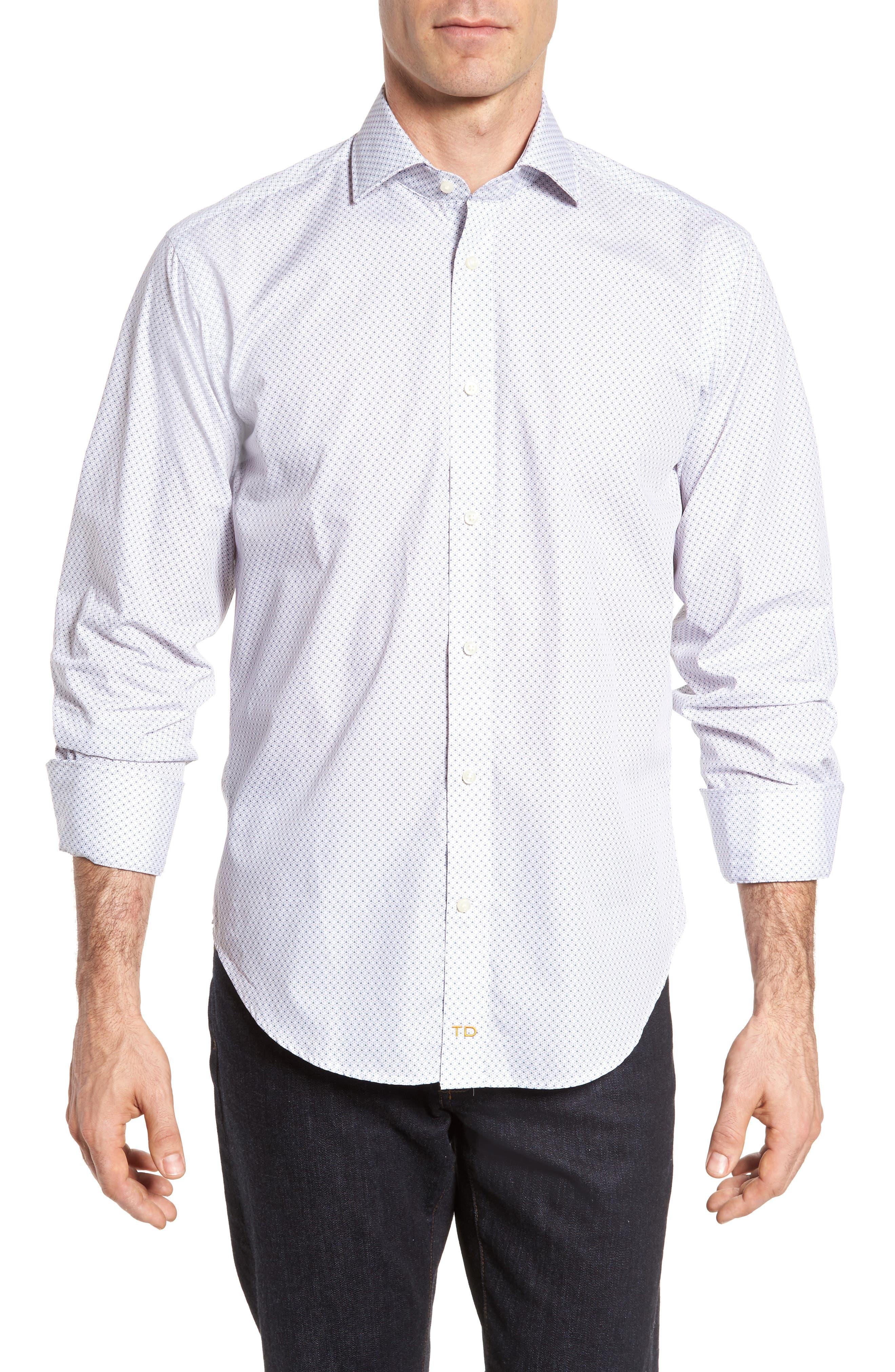 Regular Fit Print Sport Shirt,                         Main,                         color, 020