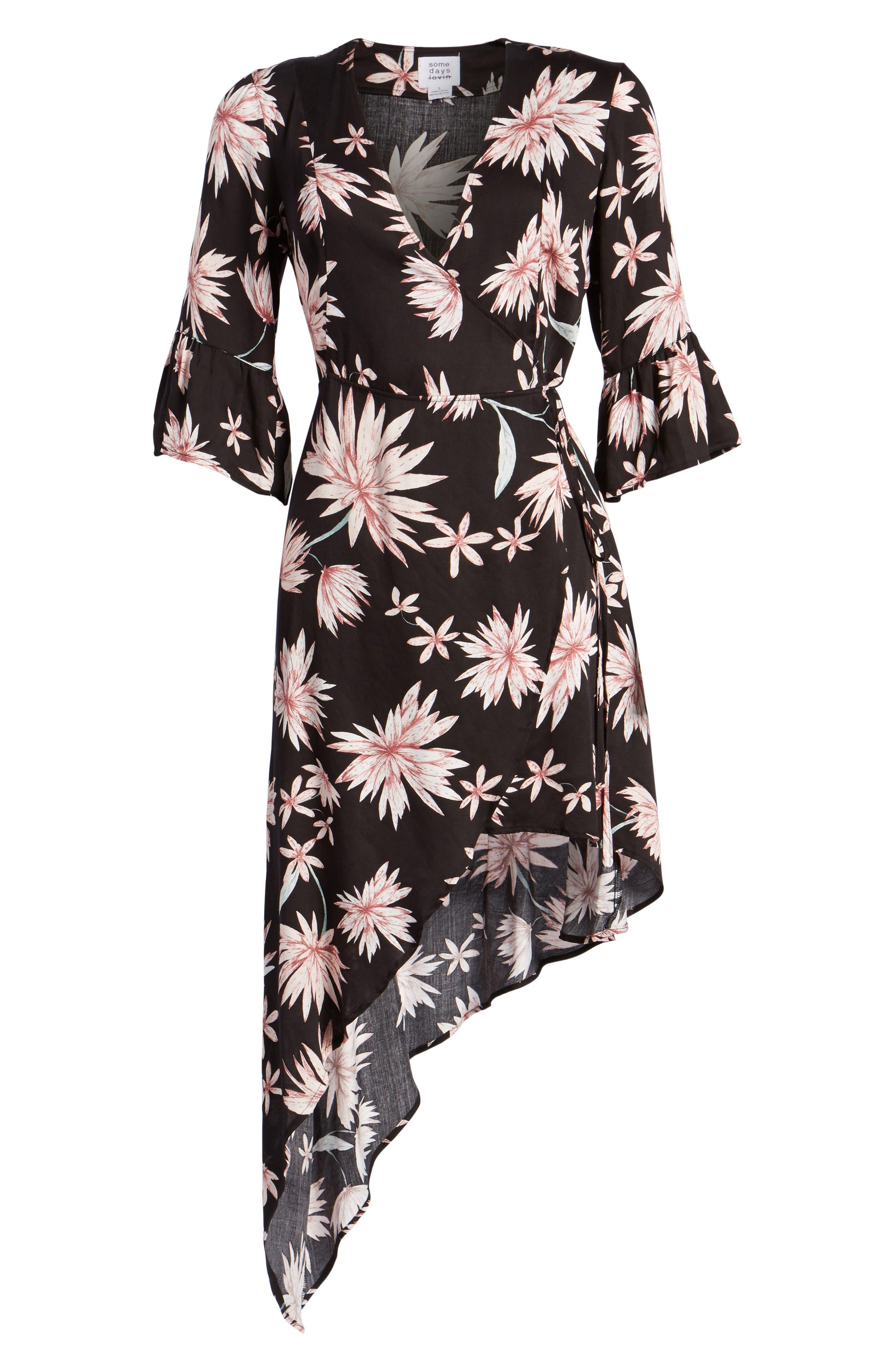 Shades of Dawn Wrap Dress,                             Alternate thumbnail 6, color,                             402