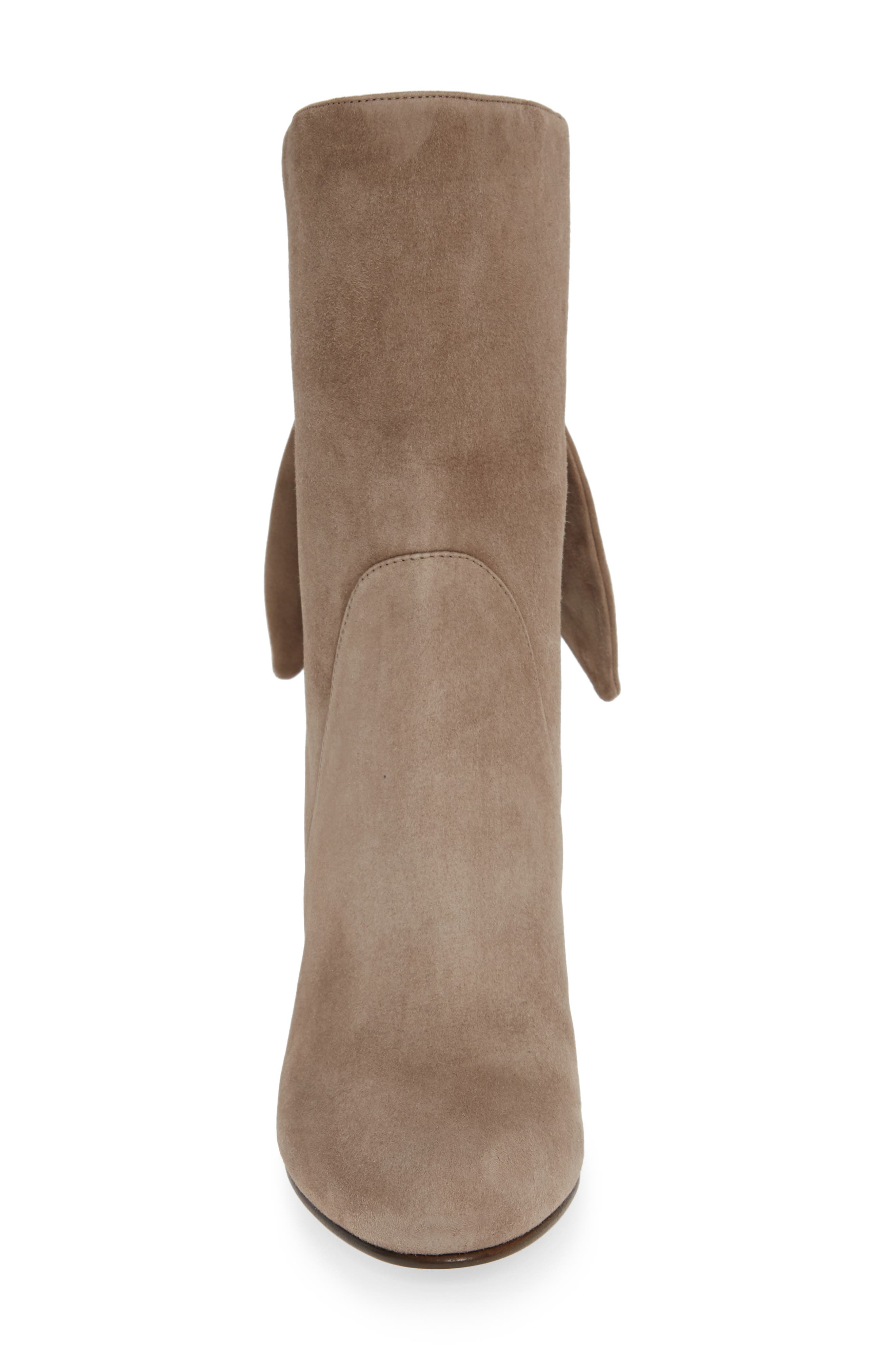 Malene Knotted Bootie,                             Alternate thumbnail 4, color,                             STONE SUEDE