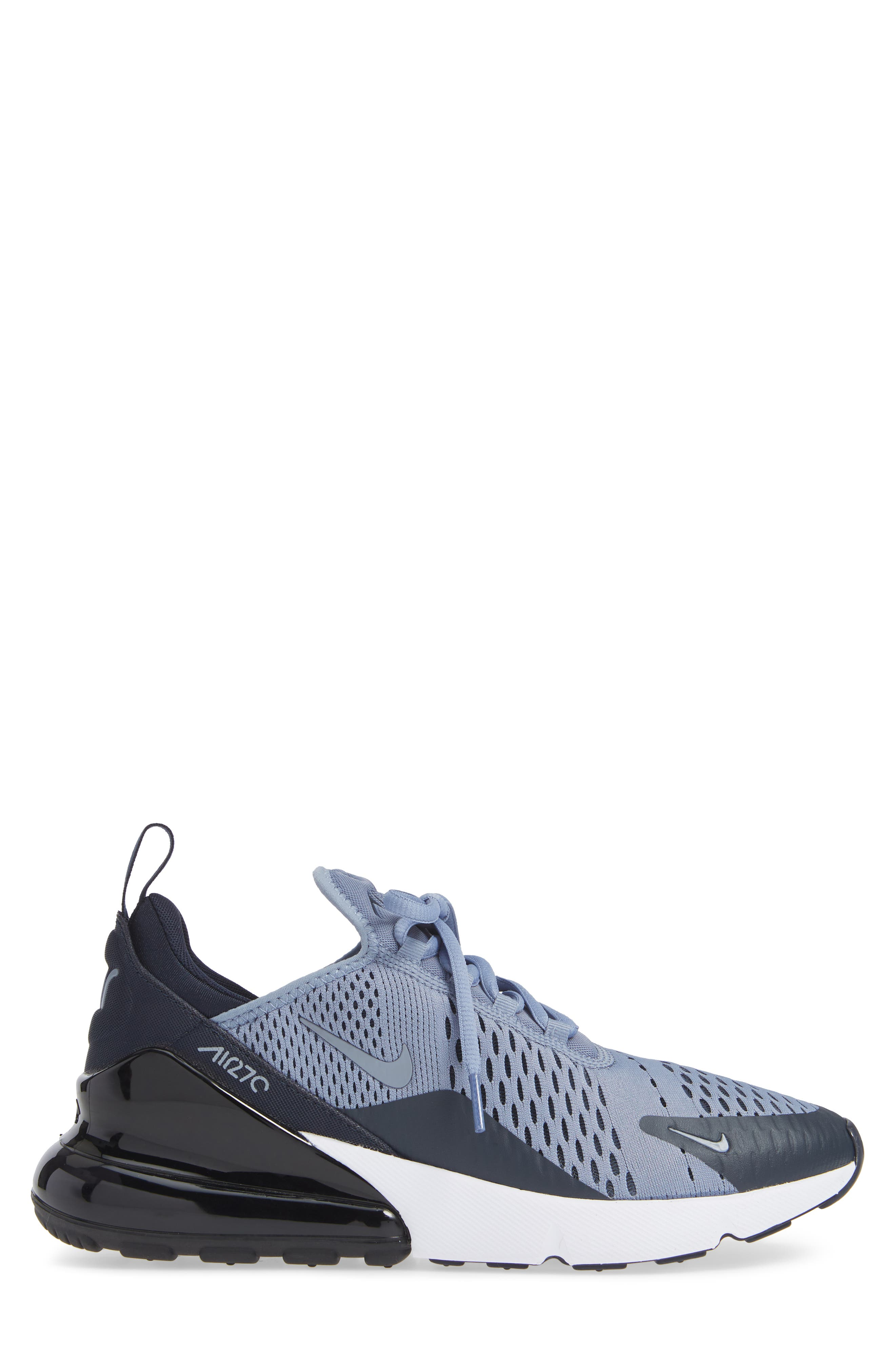 Air Max 270 Sneaker,                             Alternate thumbnail 3, color,                             ASHEN SLATE/ BLACK
