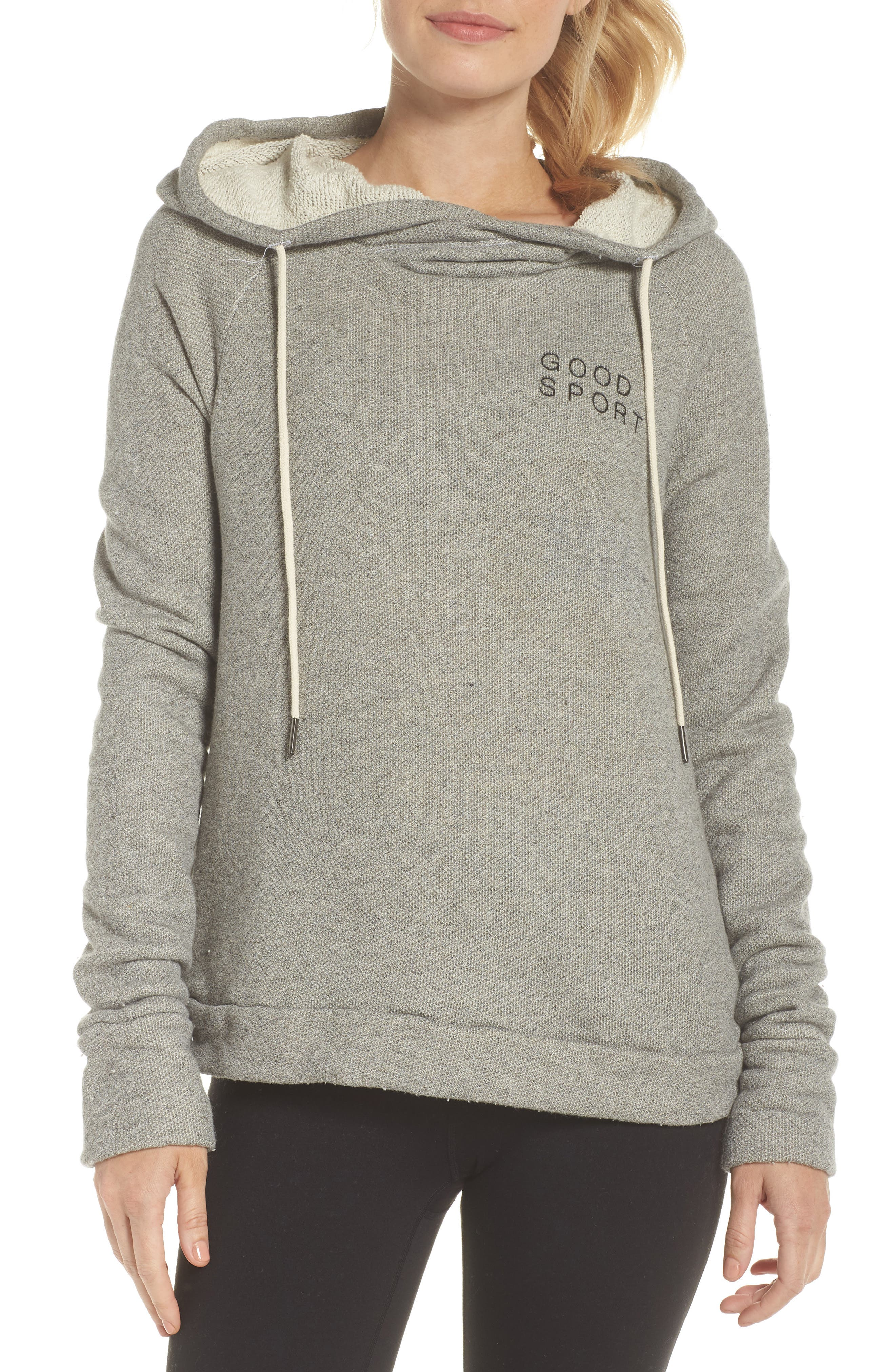 Dominic Good Sport Hoodie,                             Main thumbnail 1, color,                             HEATHER