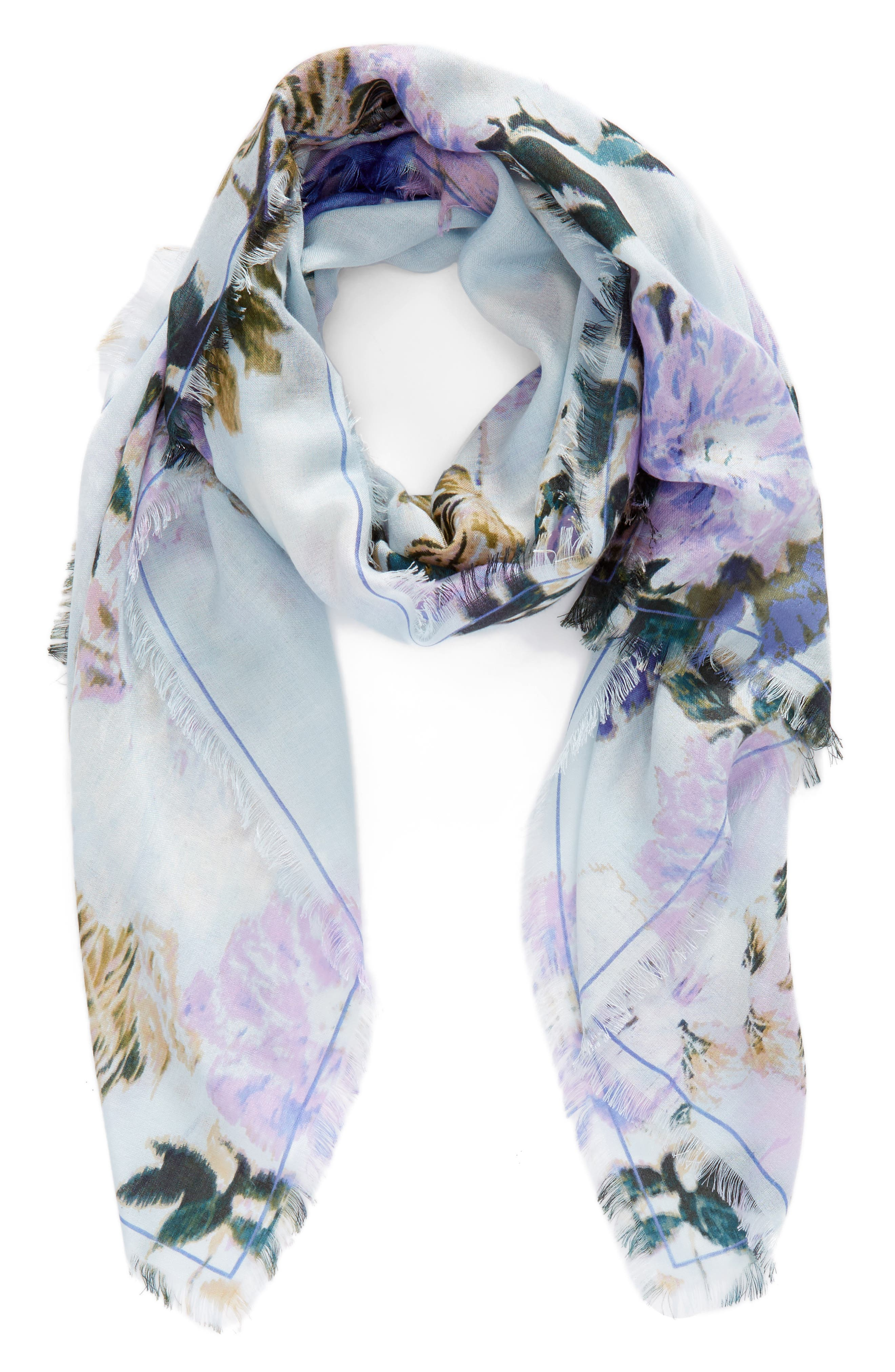 Eyelash Trim Print Cashmere & Silk Wrap,                             Alternate thumbnail 55, color,