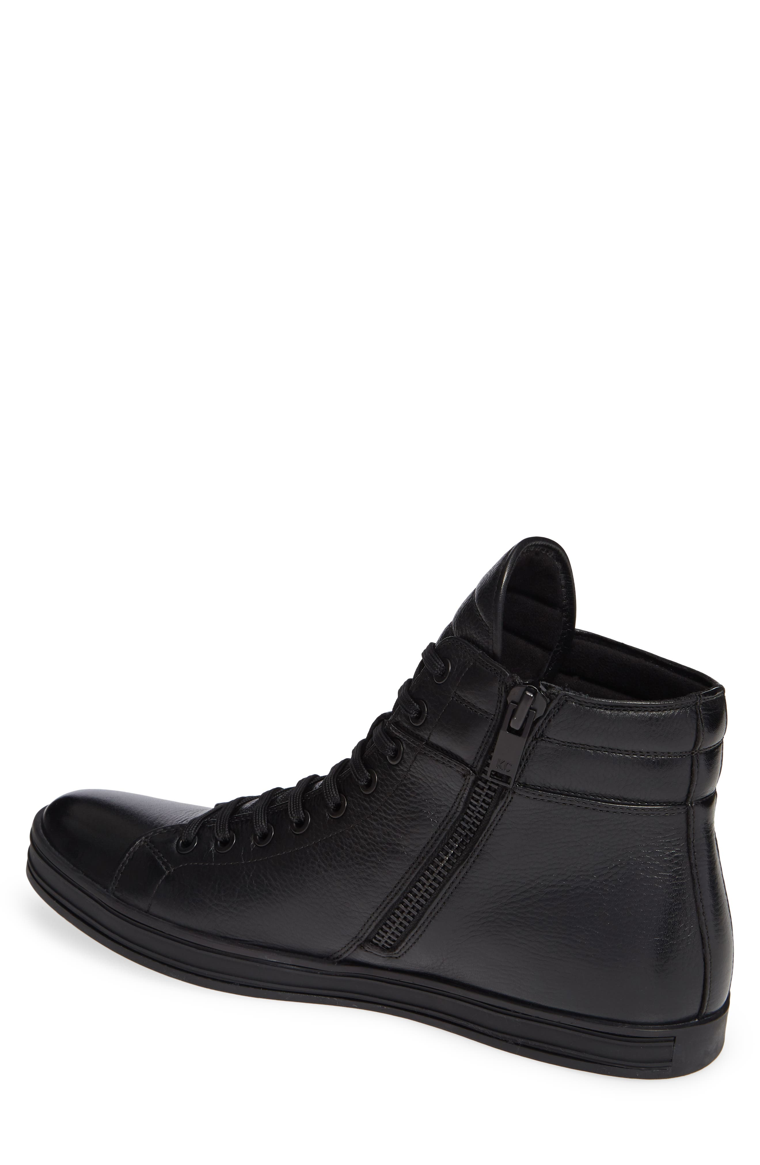 Brand F Sneaker,                             Alternate thumbnail 2, color,                             BLACK LEATHER