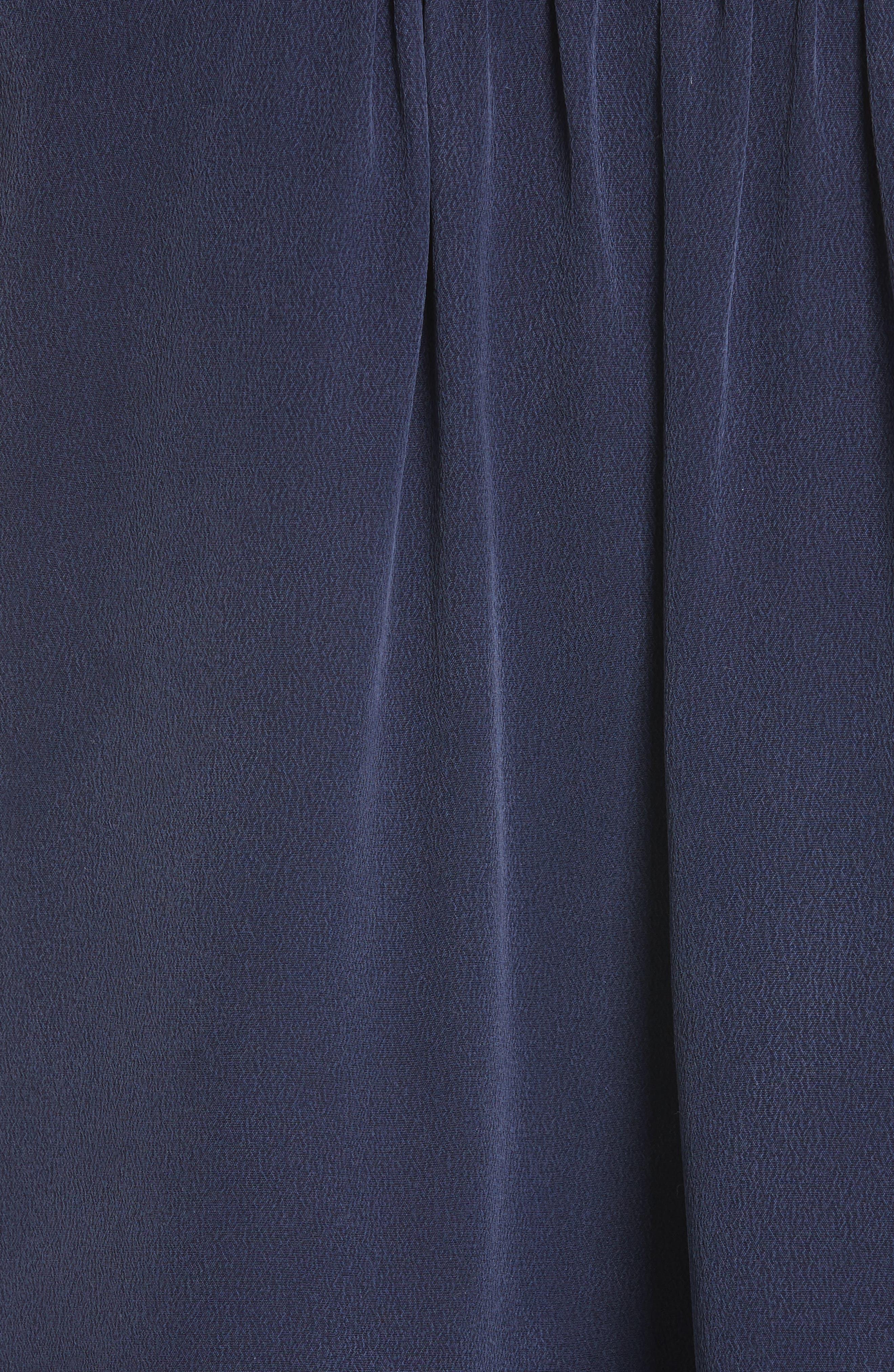 Alvery Lace Trim Silk Shell,                             Alternate thumbnail 5, color,                             411