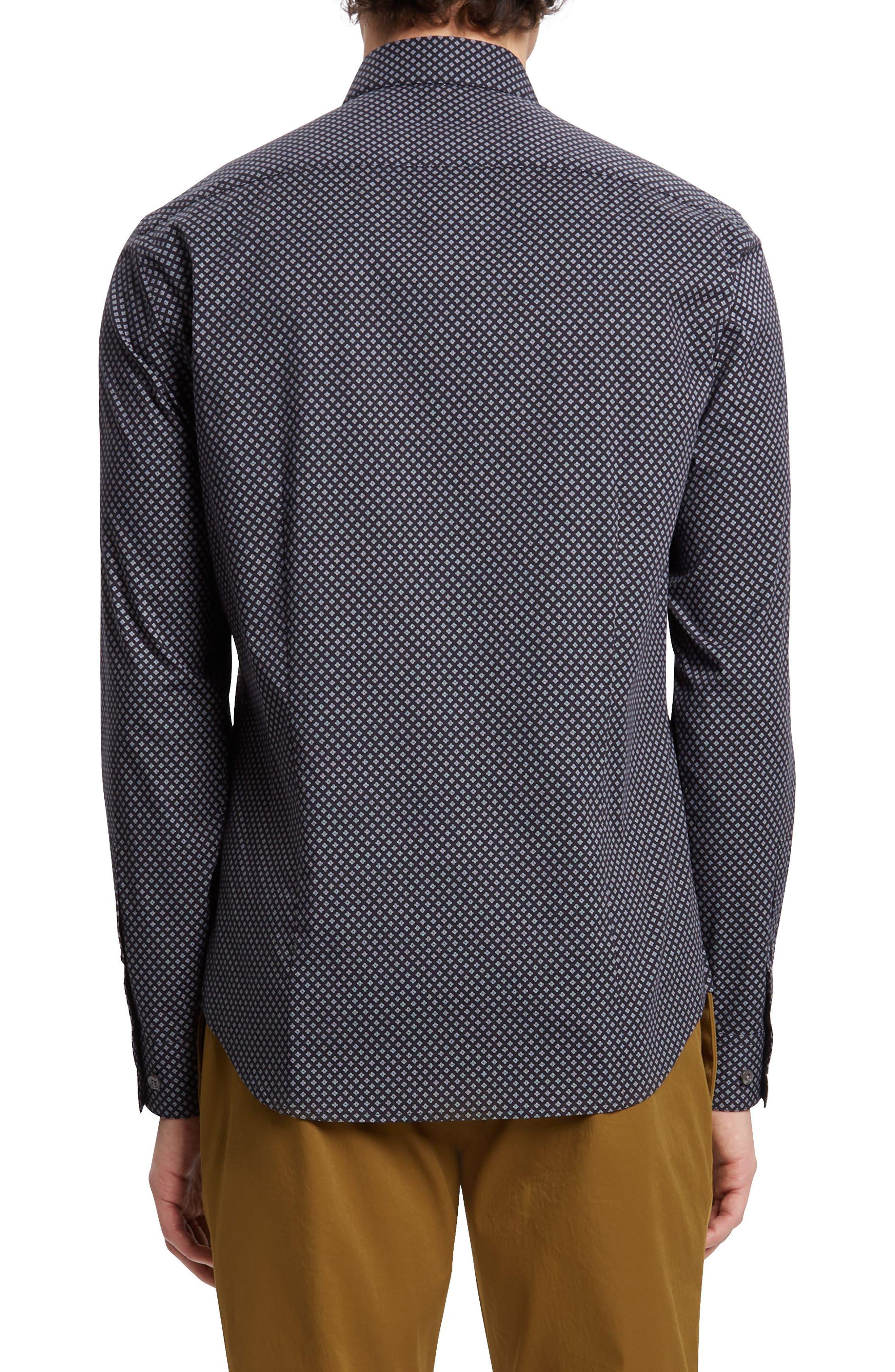 Sylvain Kessler Patterned Sport Shirt,                             Alternate thumbnail 2, color,                             BLACK MULTI