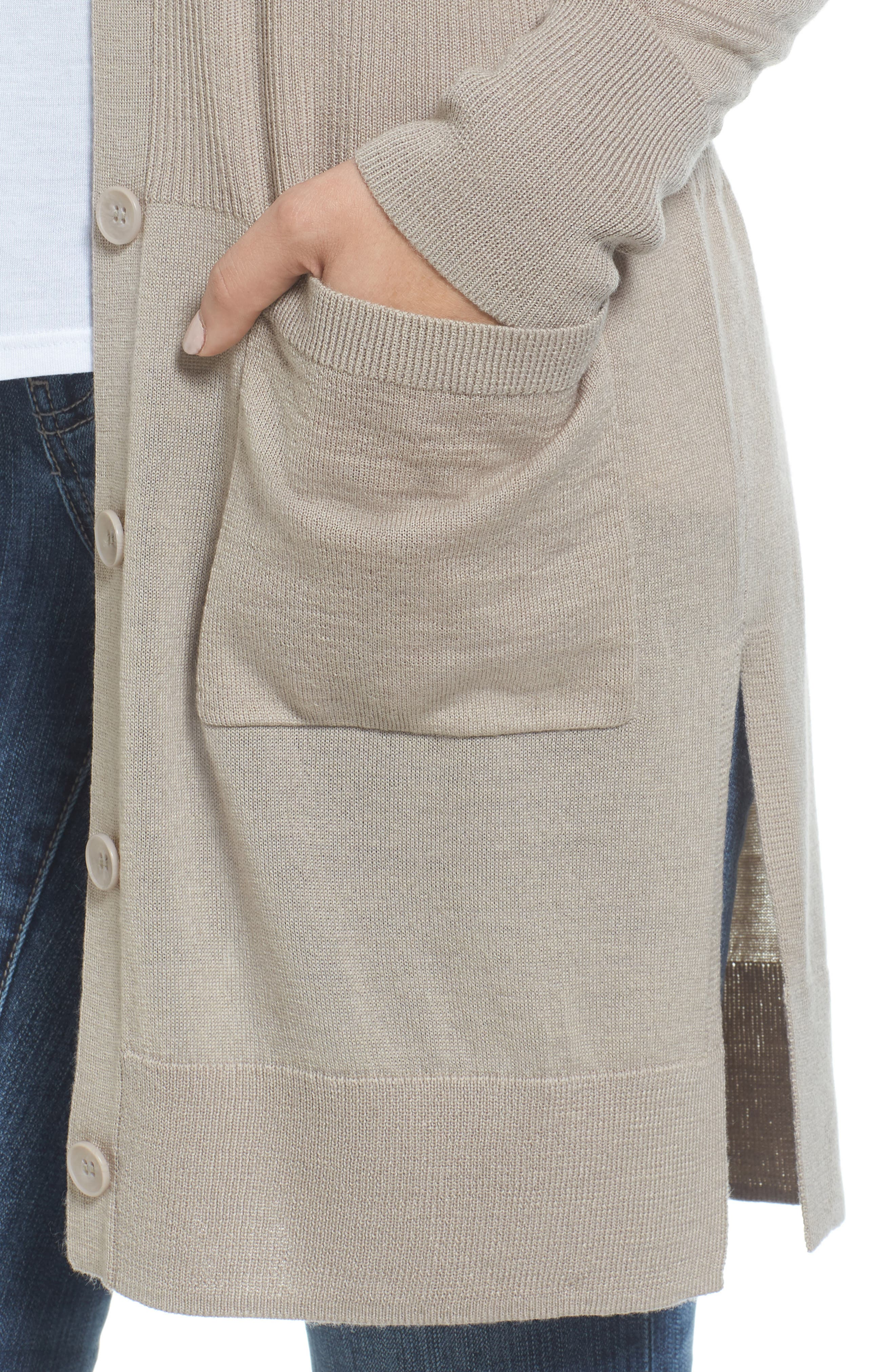 Rib Knit Wool Blend Cardigan,                             Alternate thumbnail 66, color,