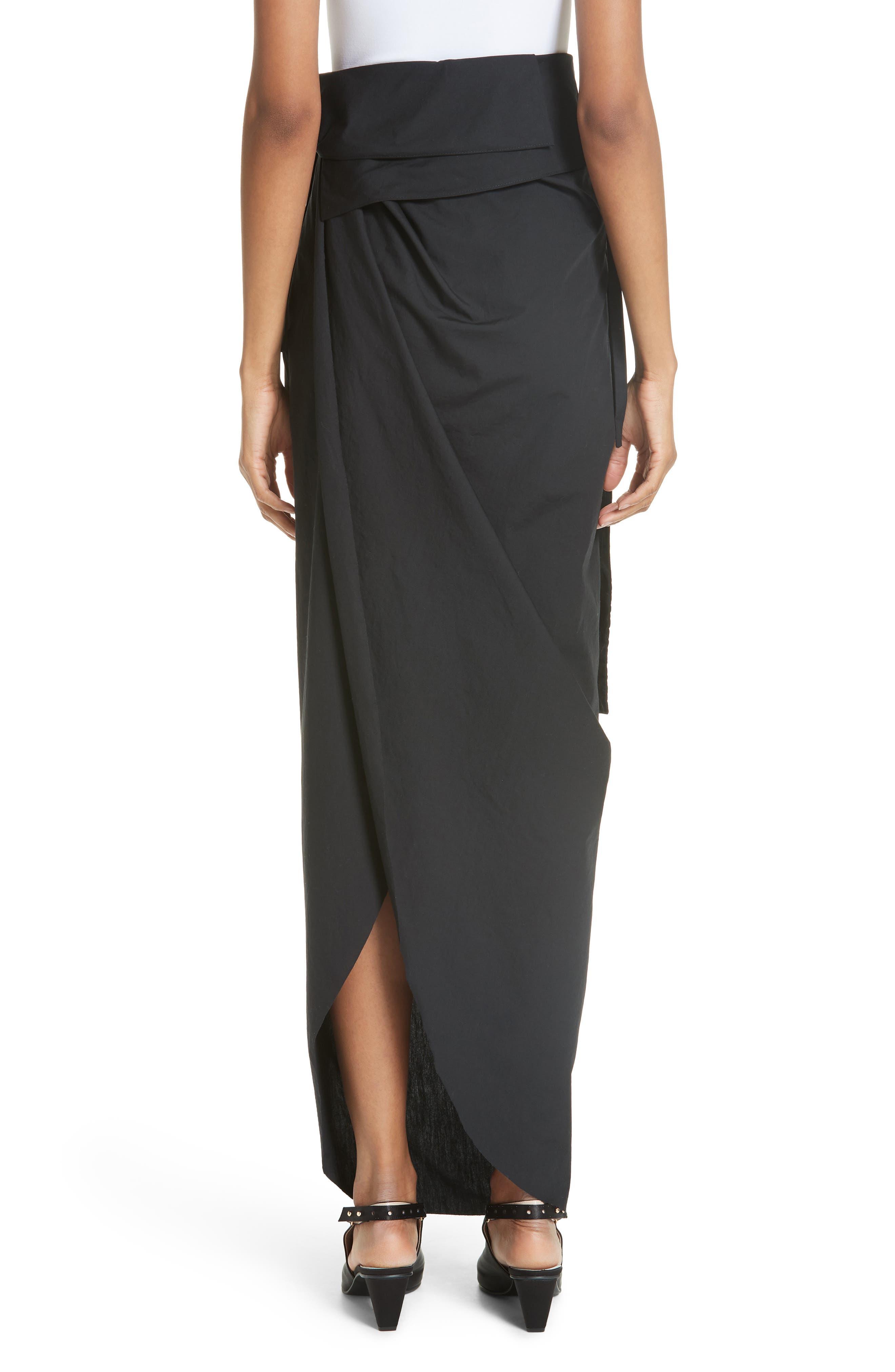 High Waist Wrap Skirt,                             Alternate thumbnail 2, color,                             001
