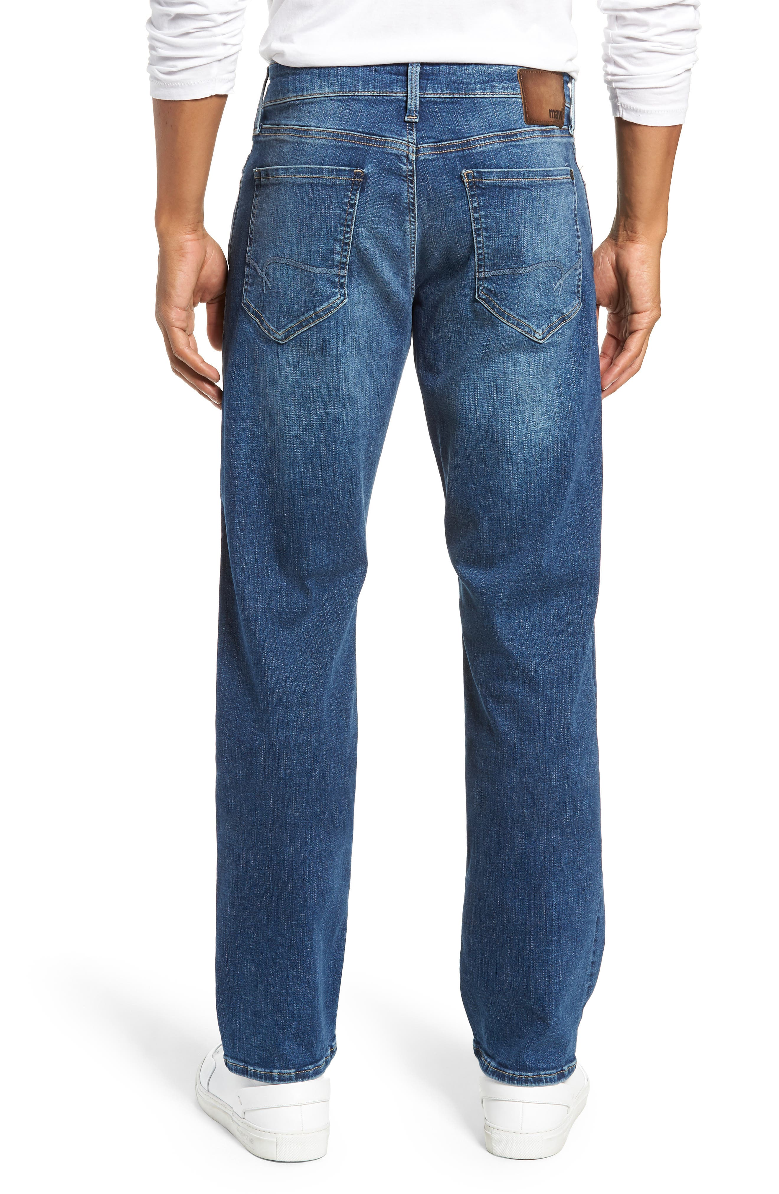 Matt Relaxed Straight Leg Jeans,                             Alternate thumbnail 2, color,                             MID BRUSHED CASHMERE