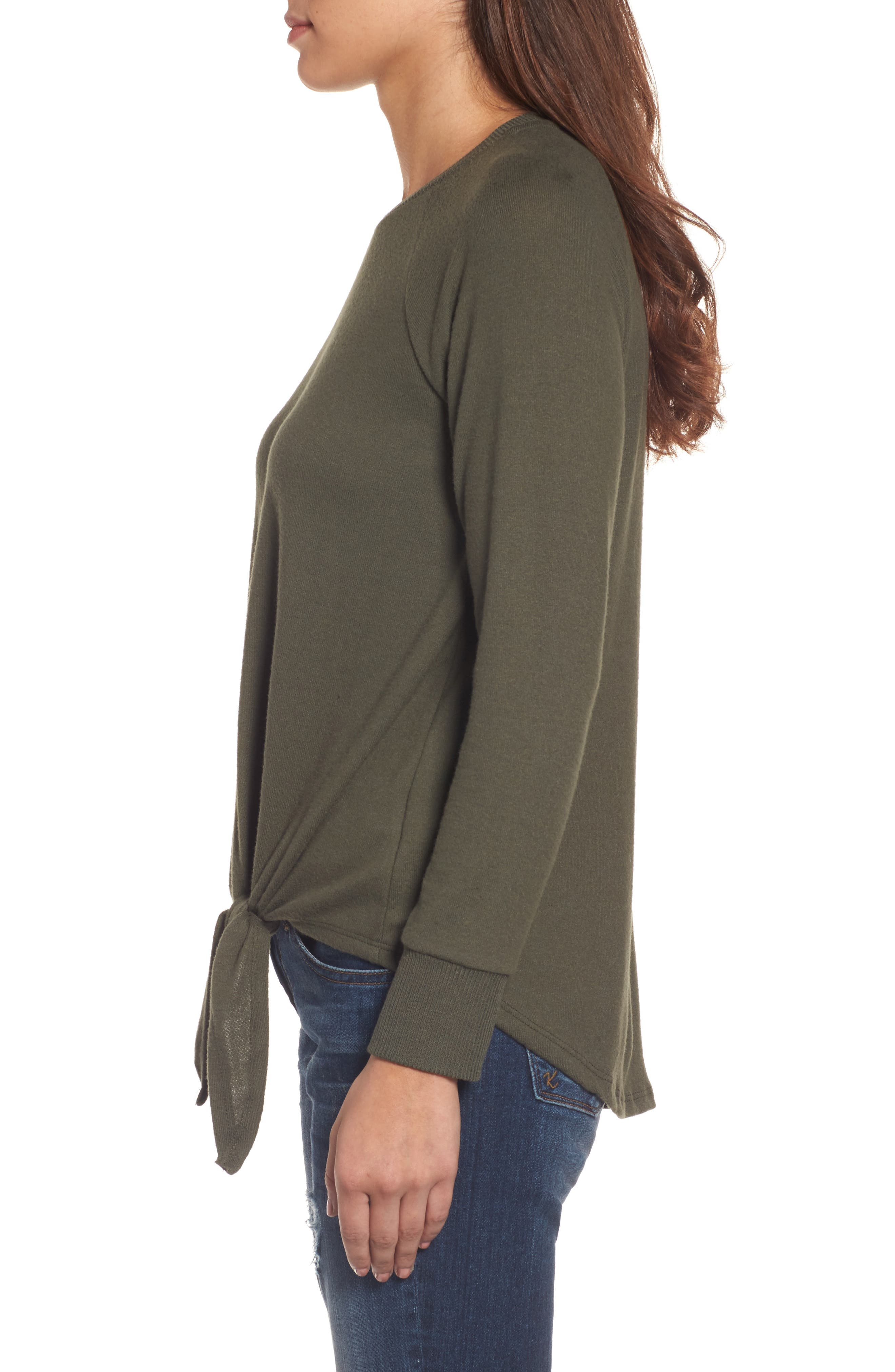 Tie Front Cozy Fleece Pullover,                             Alternate thumbnail 24, color,