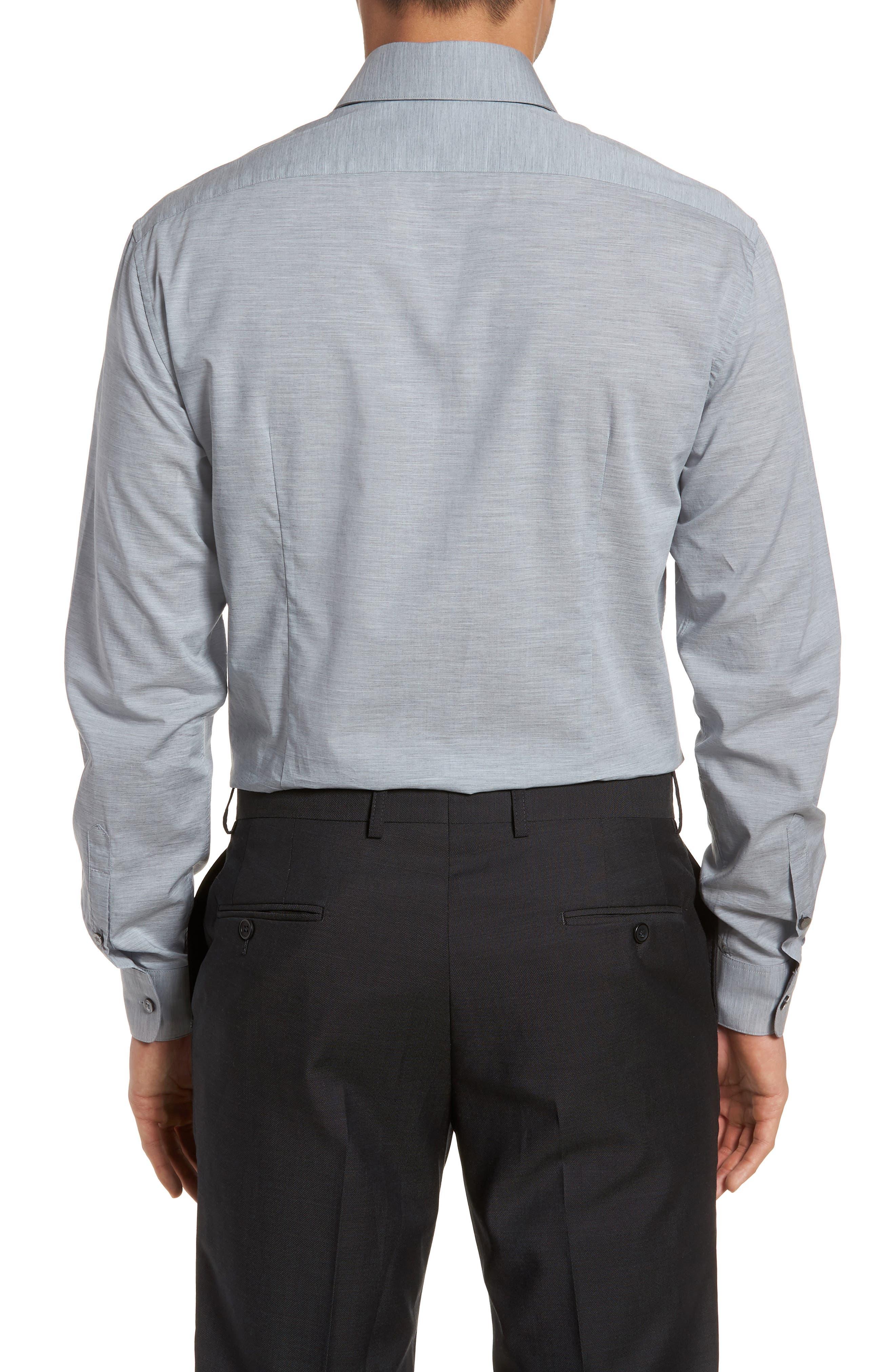 Slim Fit Stretch Solid Dress Shirt,                             Alternate thumbnail 3, color,                             432
