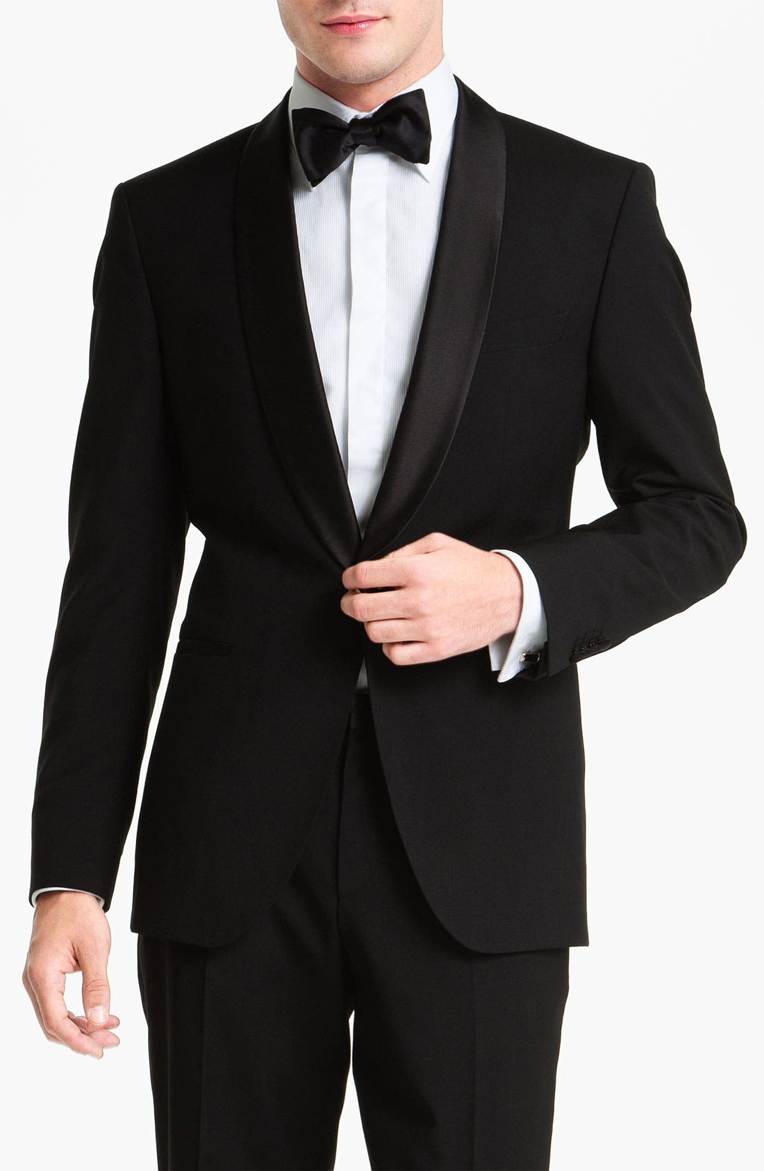 ZZDNUHUGO BOSS,                             BOSS 'Sky Gala' Shawl Lapel Tuxedo,                             Alternate thumbnail 4, color,                             001