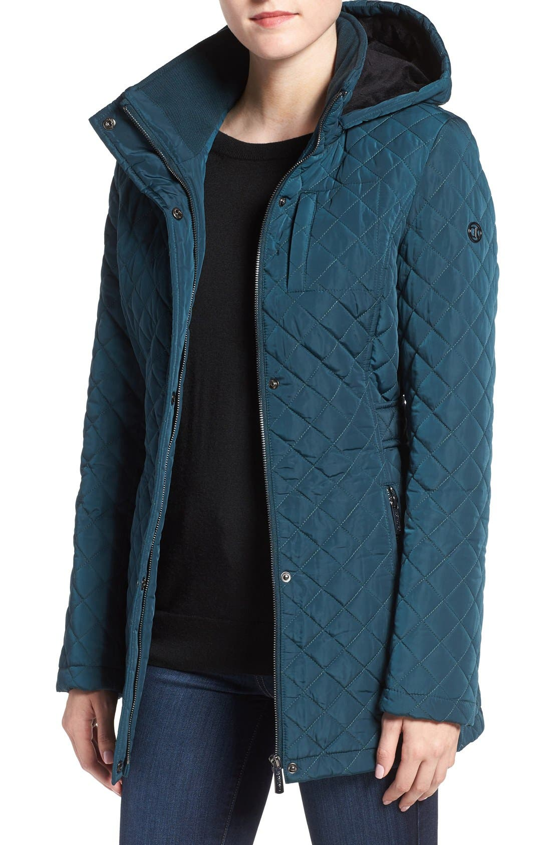 Hooded Quilted Jacket,                             Main thumbnail 5, color,
