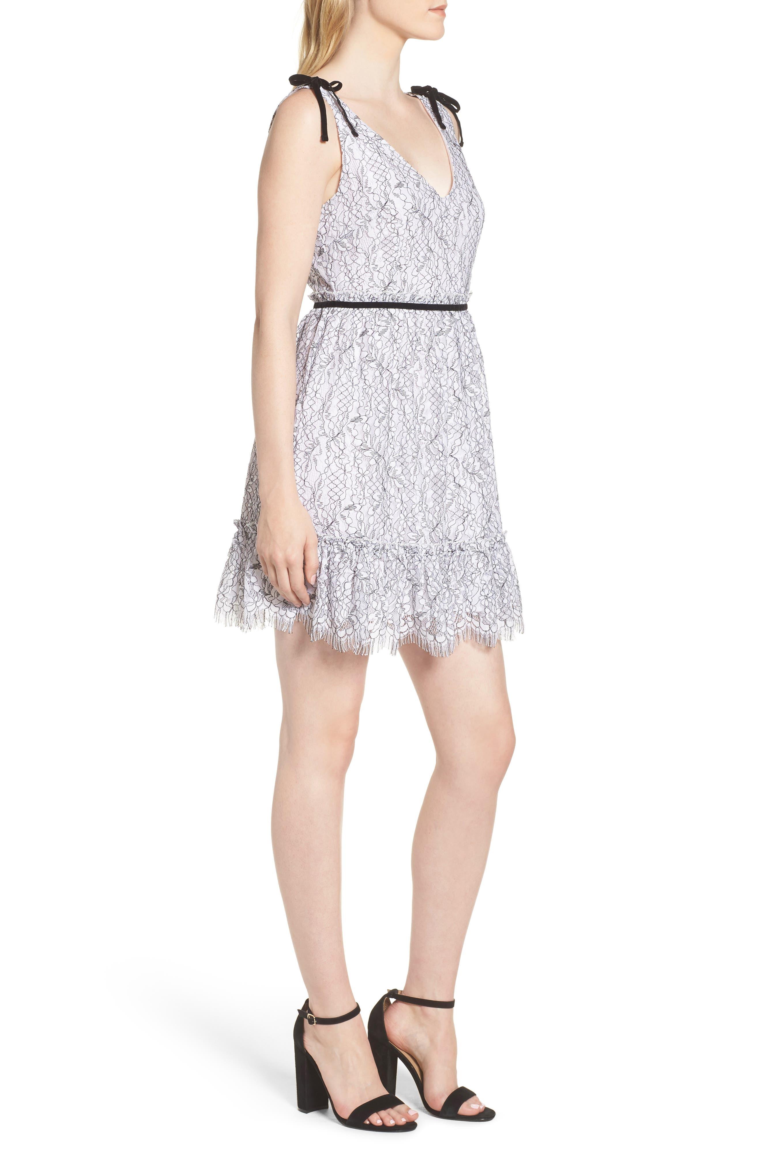 Ezzy Lace Dress,                             Alternate thumbnail 3, color,                             IVORY