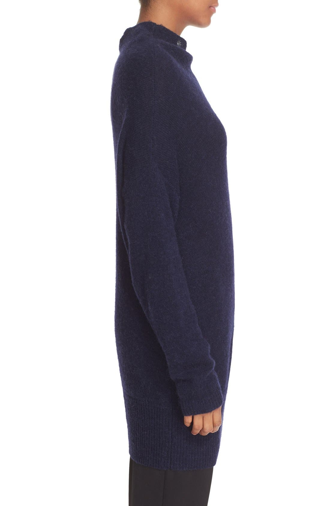 Asymmetrical Neck Sweater,                             Alternate thumbnail 3, color,                             401
