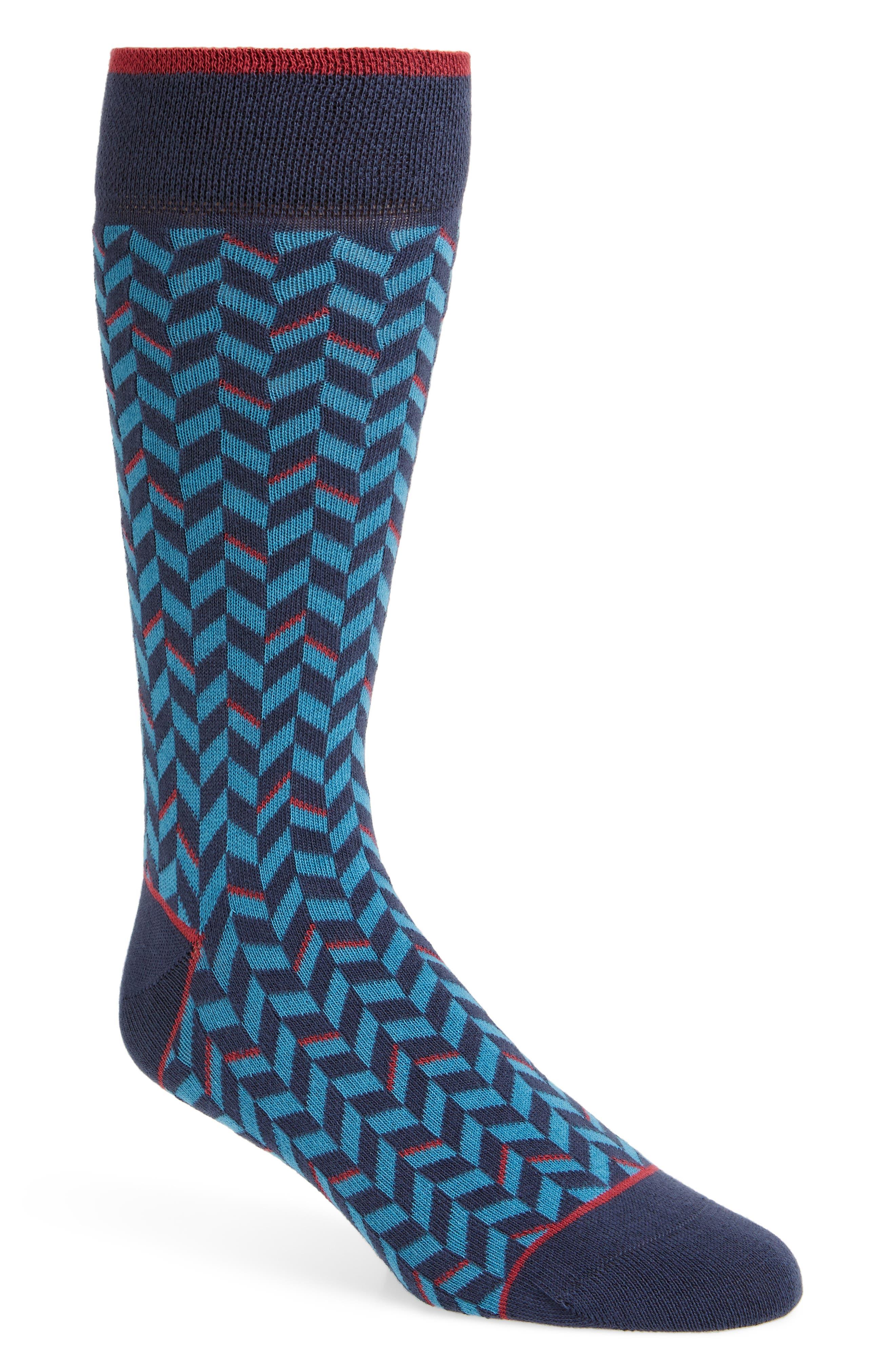 Enom Geometric Socks,                         Main,                         color, 410