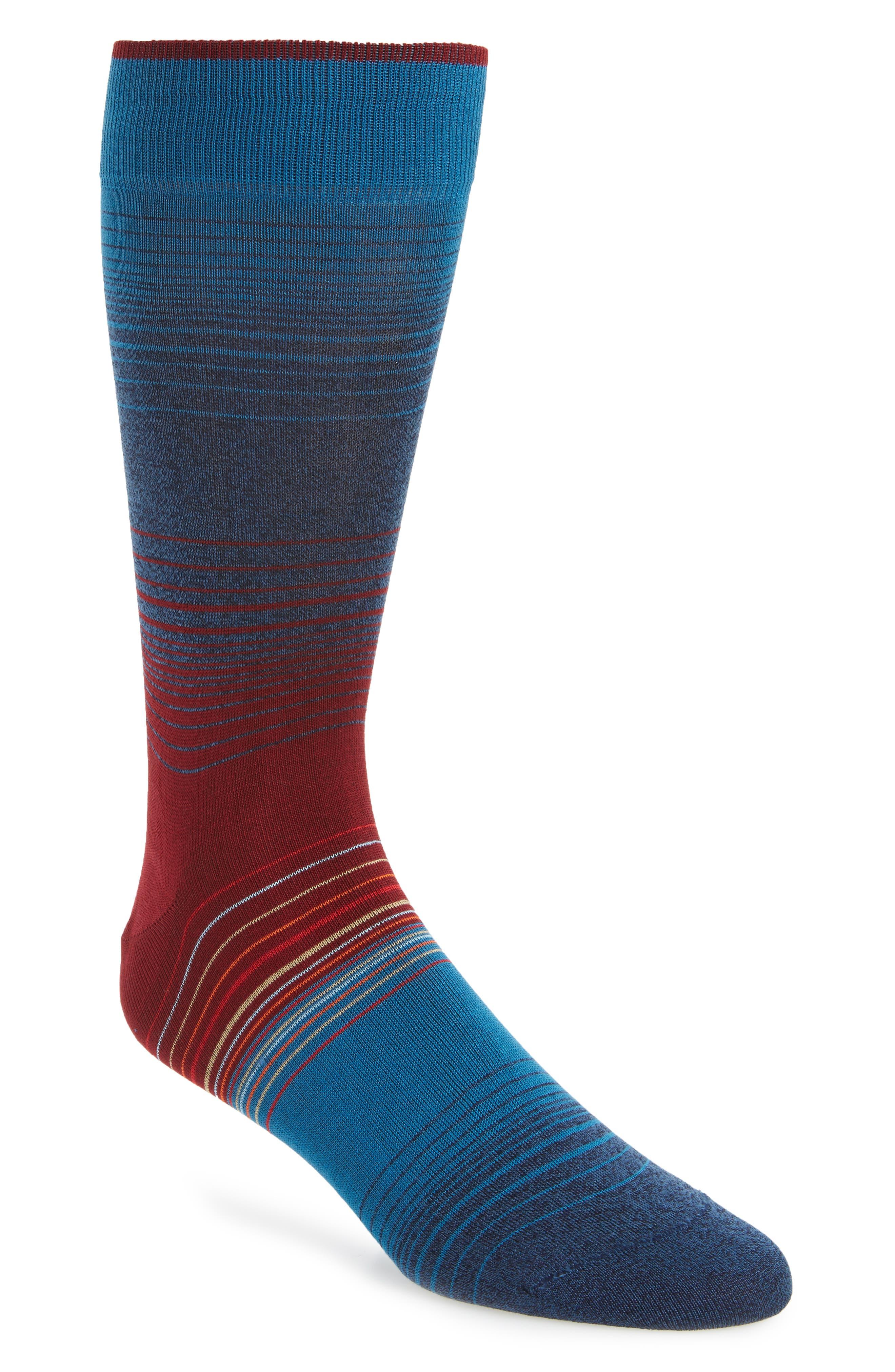 Ombré Stripes Crew Socks,                             Main thumbnail 1, color,