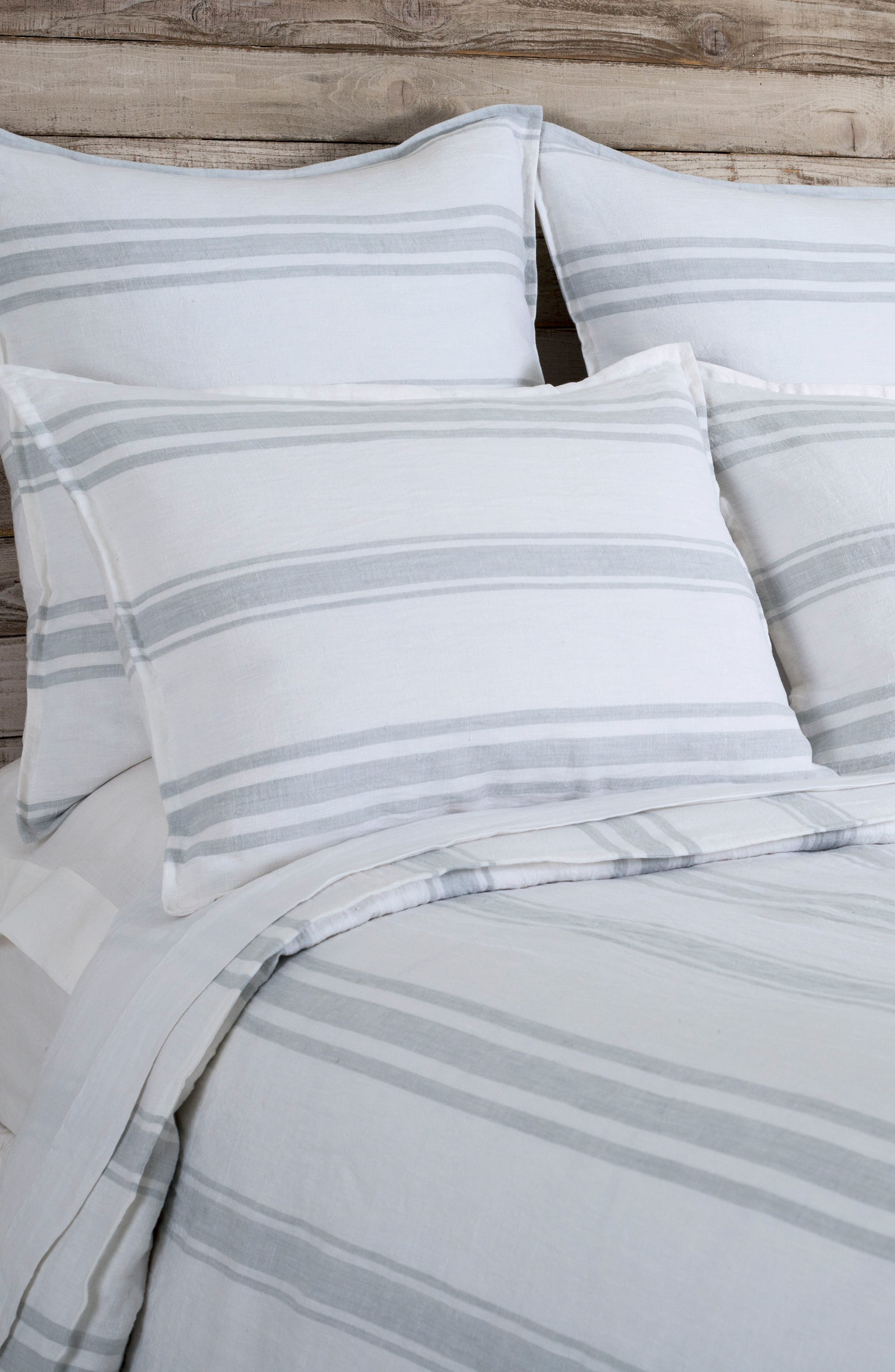 Jackson Duvet Cover,                             Alternate thumbnail 2, color,                             WHITE/ OCEAN