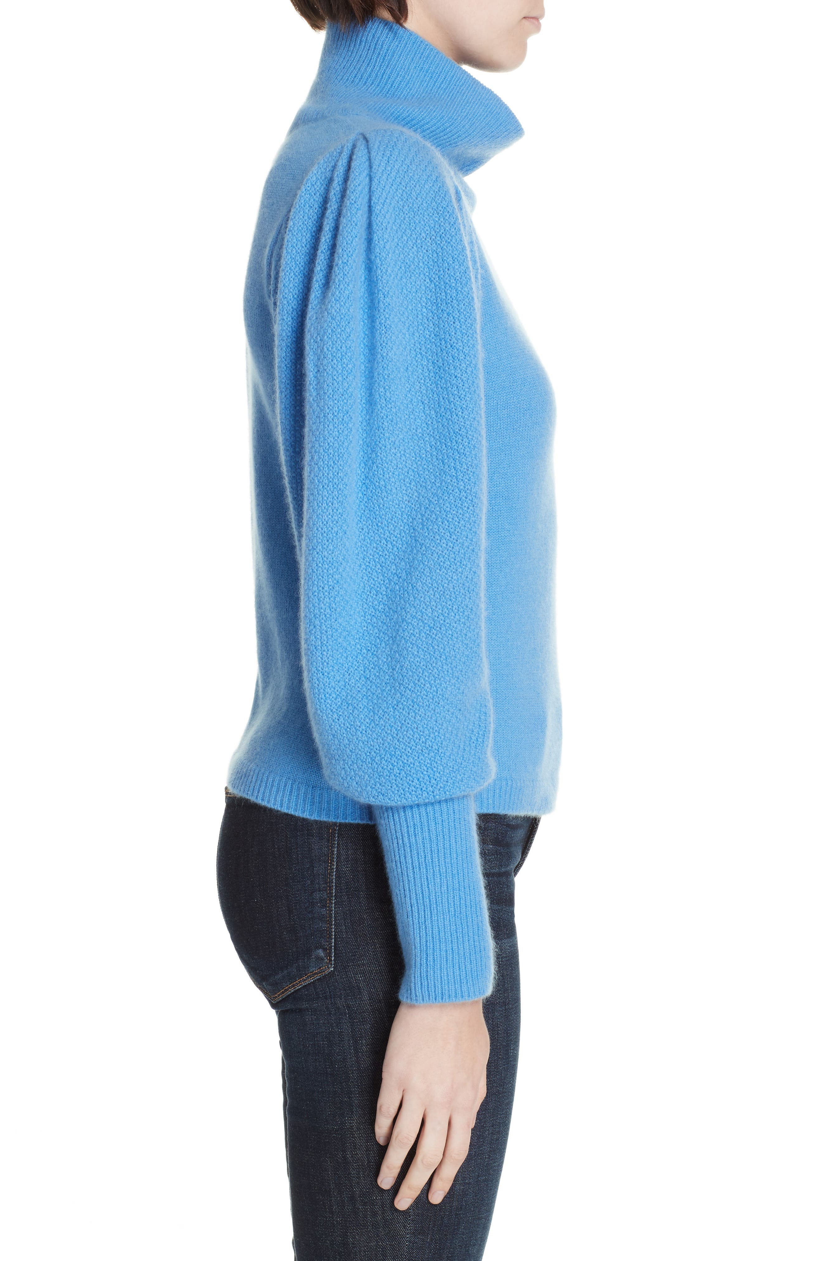 Beatrice Wool & Cashmere Sweater,                             Alternate thumbnail 3, color,                             HYDRANGEA