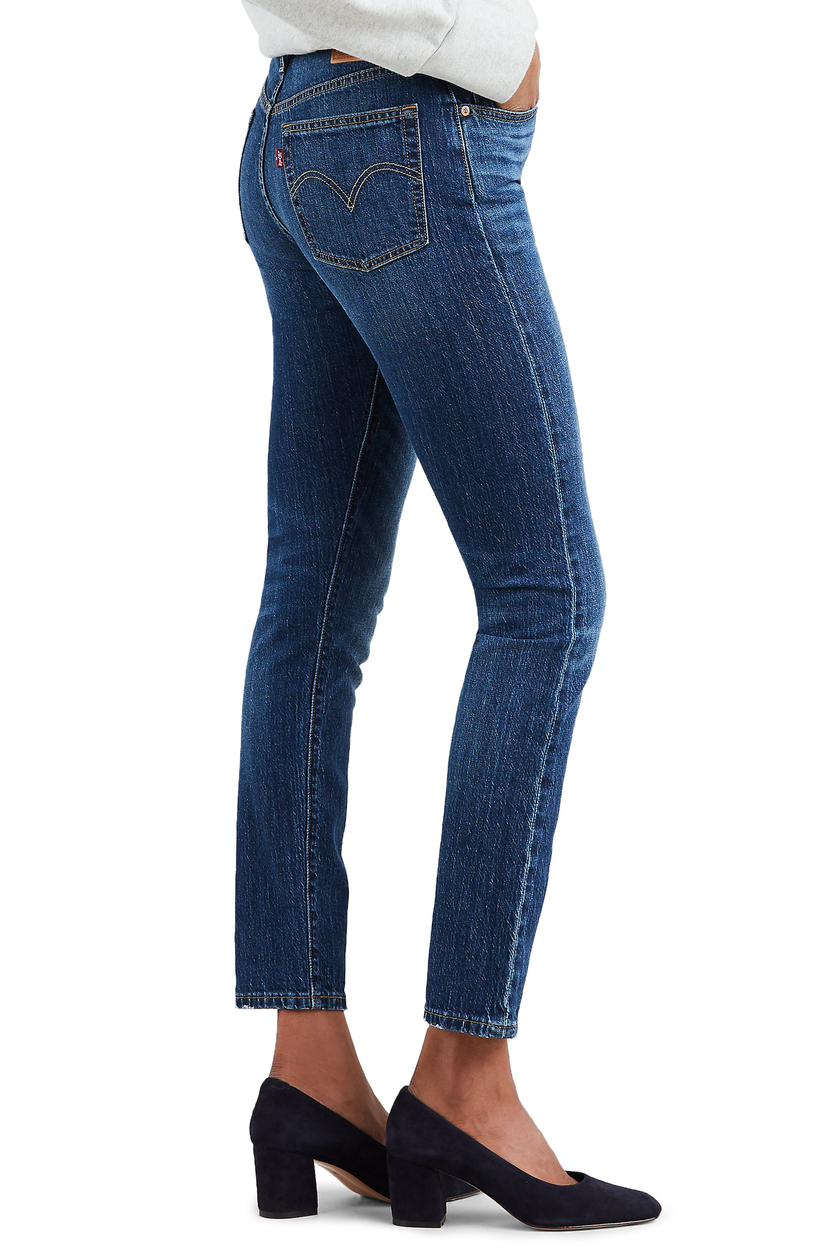 501<sup>®</sup> High Waist Ankle Skinny Jeans,                             Alternate thumbnail 3, color,                             NEAT FREAK
