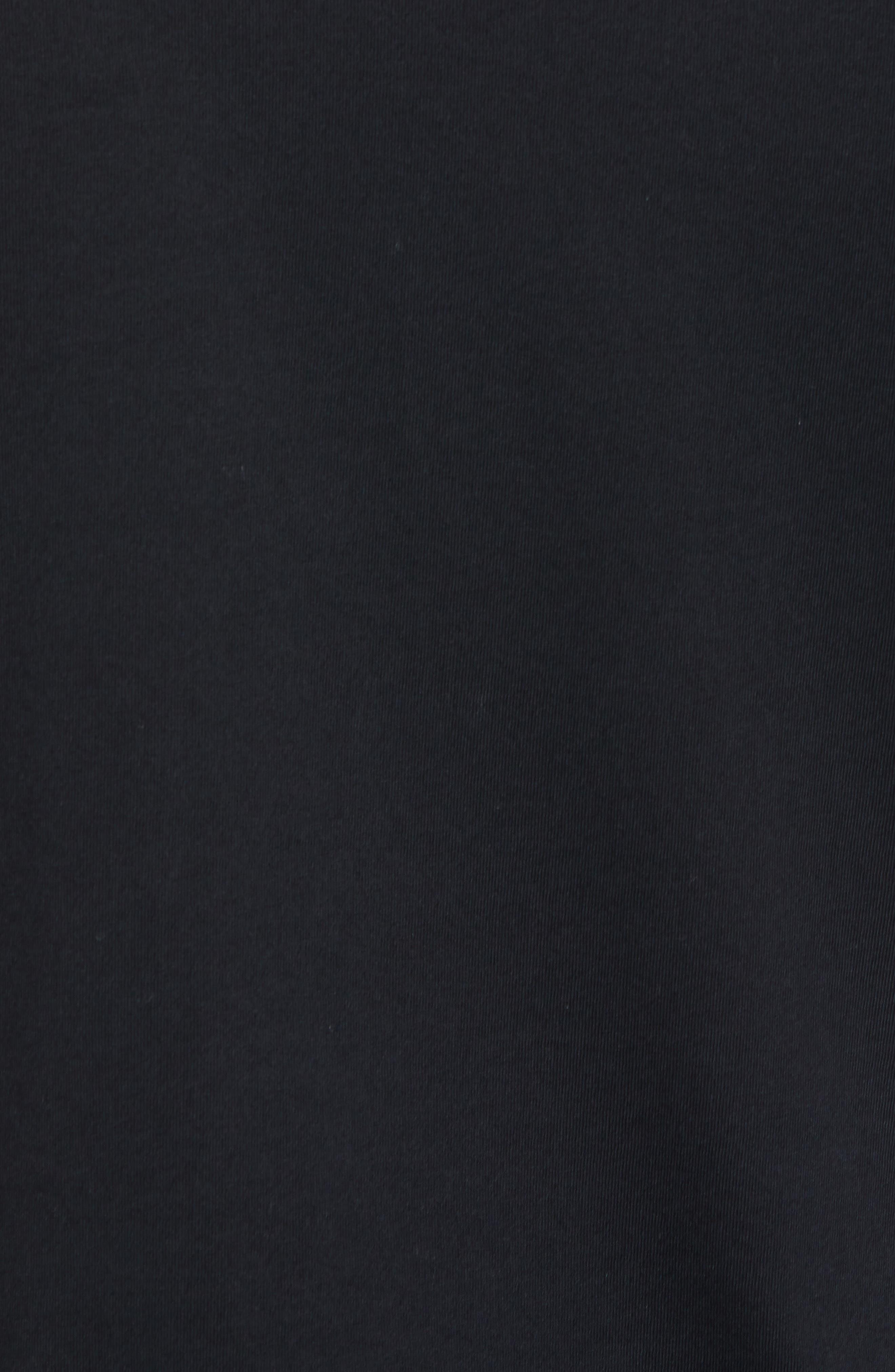 Logo Crewneck T-Shirt,                             Alternate thumbnail 5, color,                             BLACK