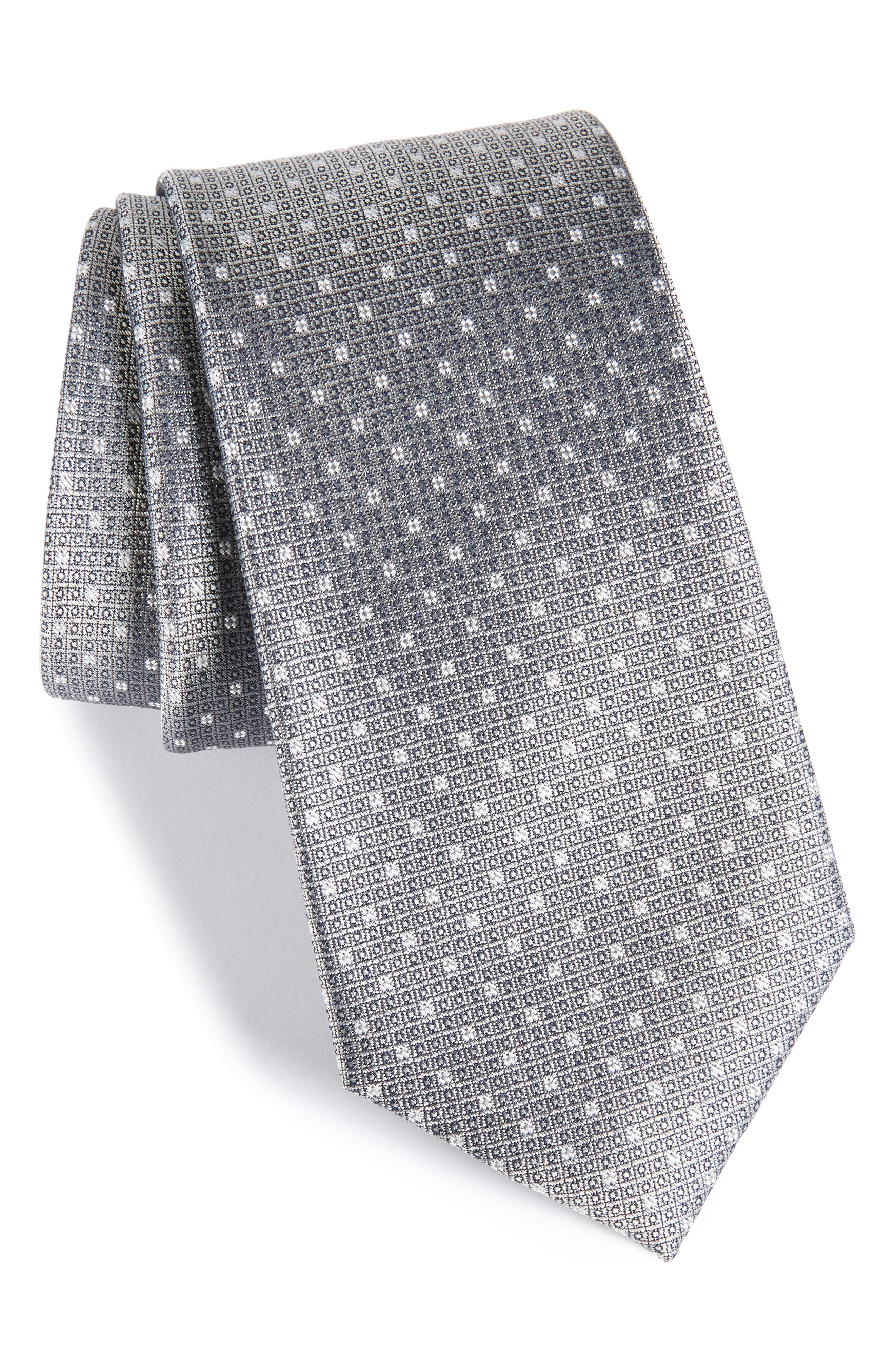Denson Neat Silk Tie,                         Main,                         color, 025