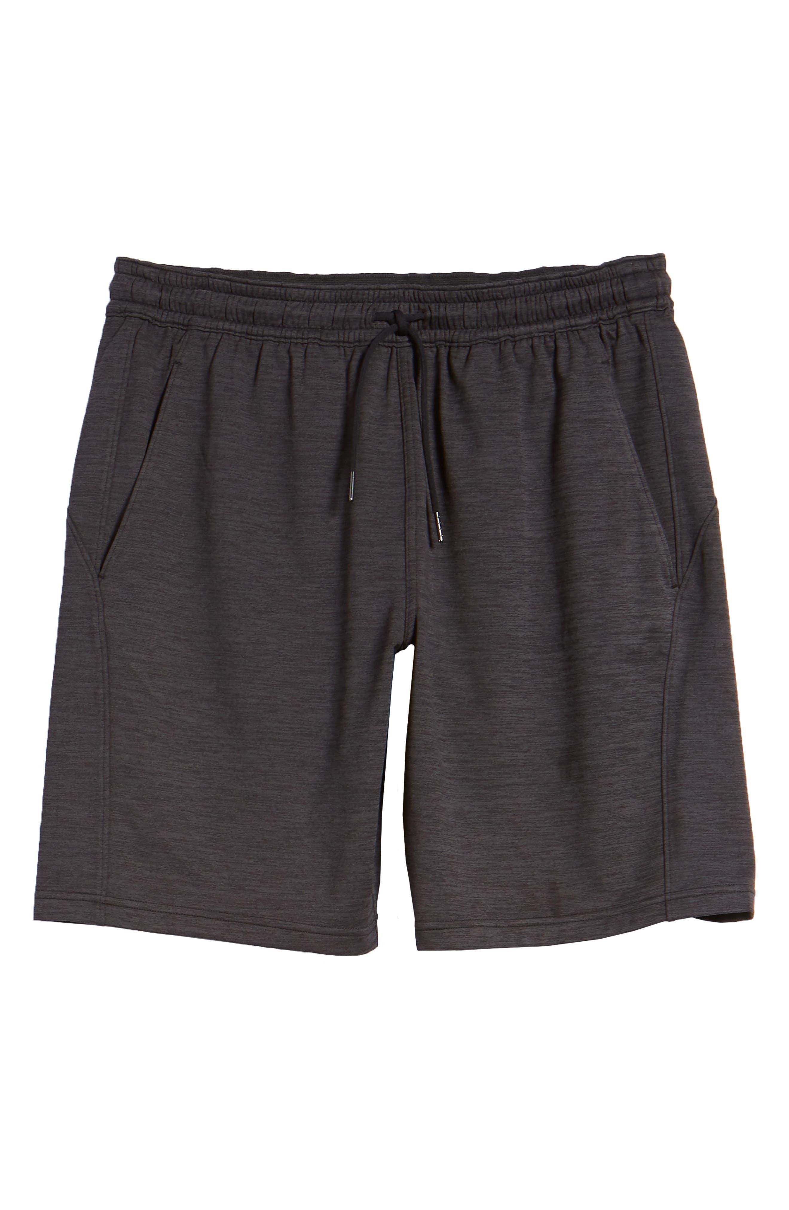 ZELLA,                             Pyrite Knit Shorts,                             Alternate thumbnail 6, color,                             BLACK OXIDE MELANGE