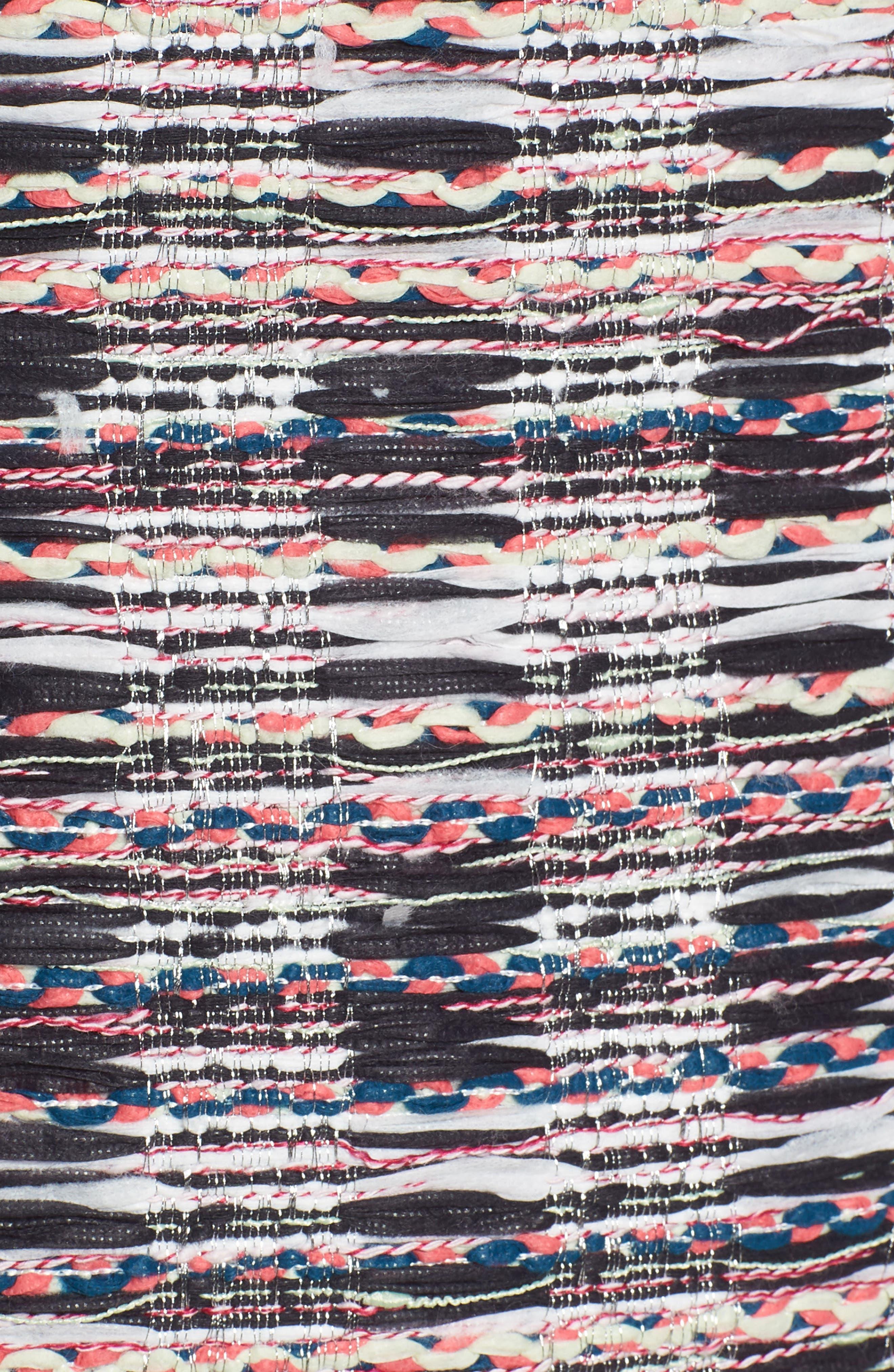 Tweed Mix Body-Con Sheath Dress,                             Alternate thumbnail 5, color,                             001