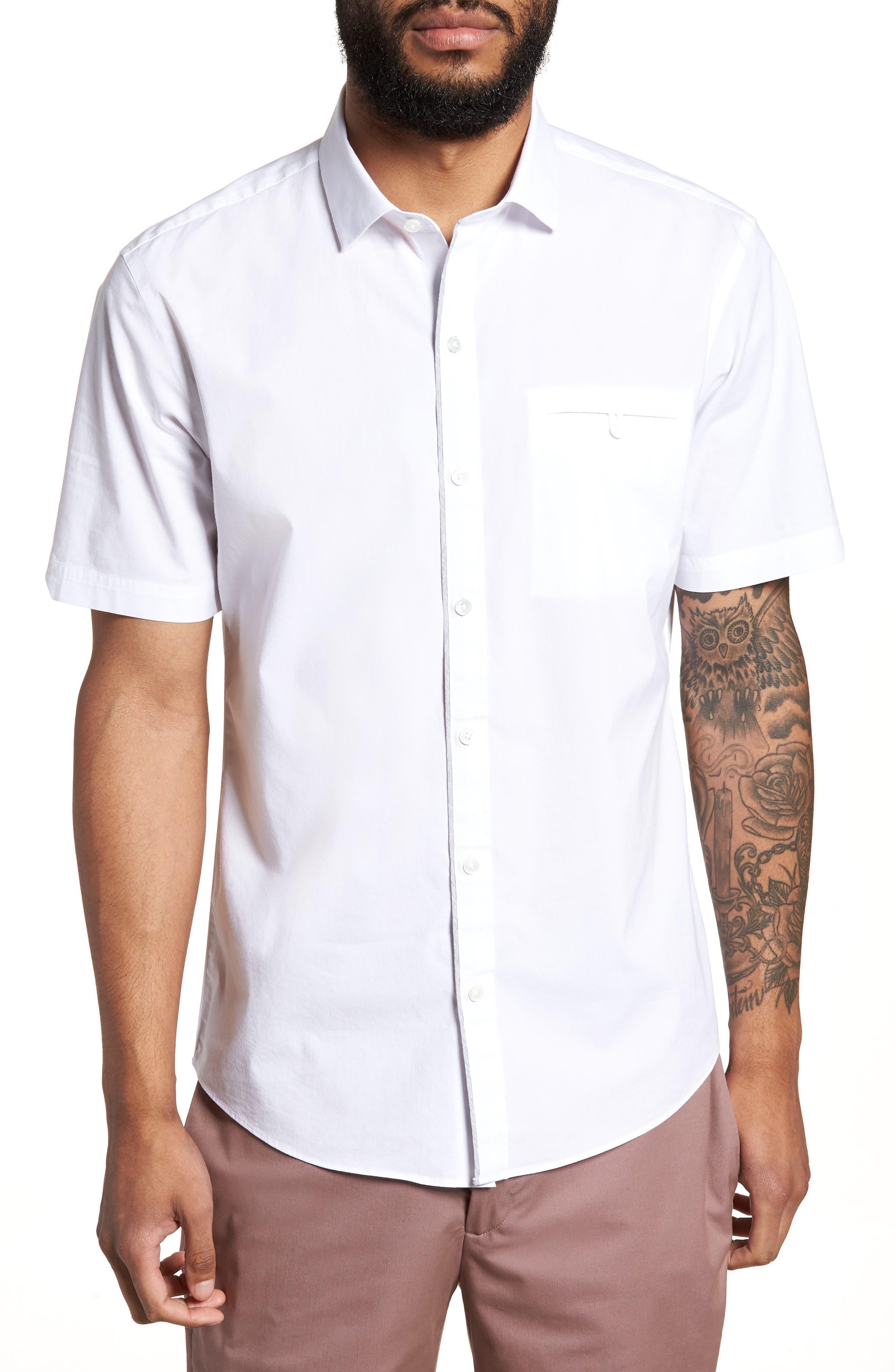 Baumann Slim Fit Sport Shirt,                         Main,                         color, 100