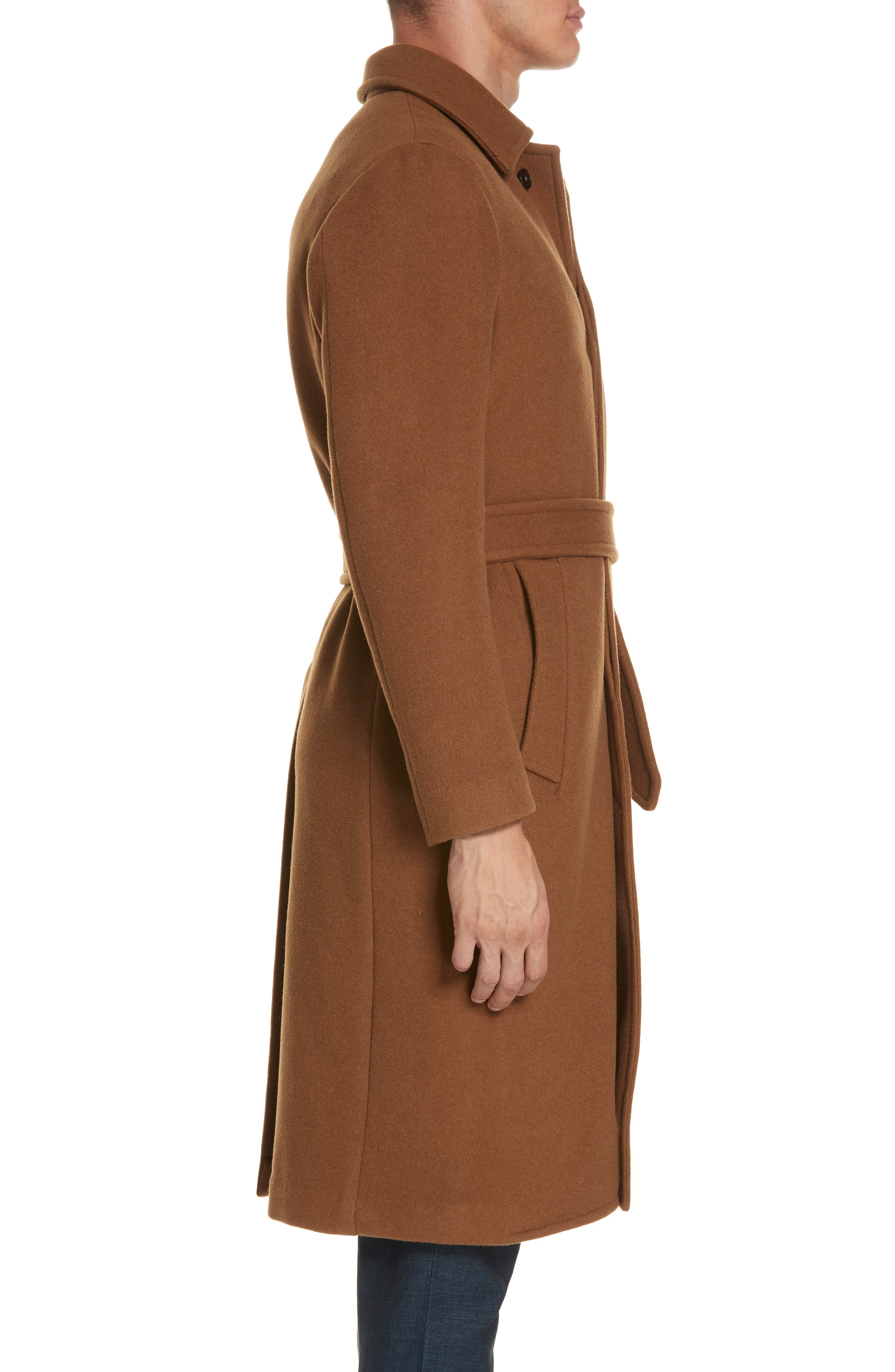 Wool & Cashmere Trench Coat,                             Alternate thumbnail 3, color,                             TAN