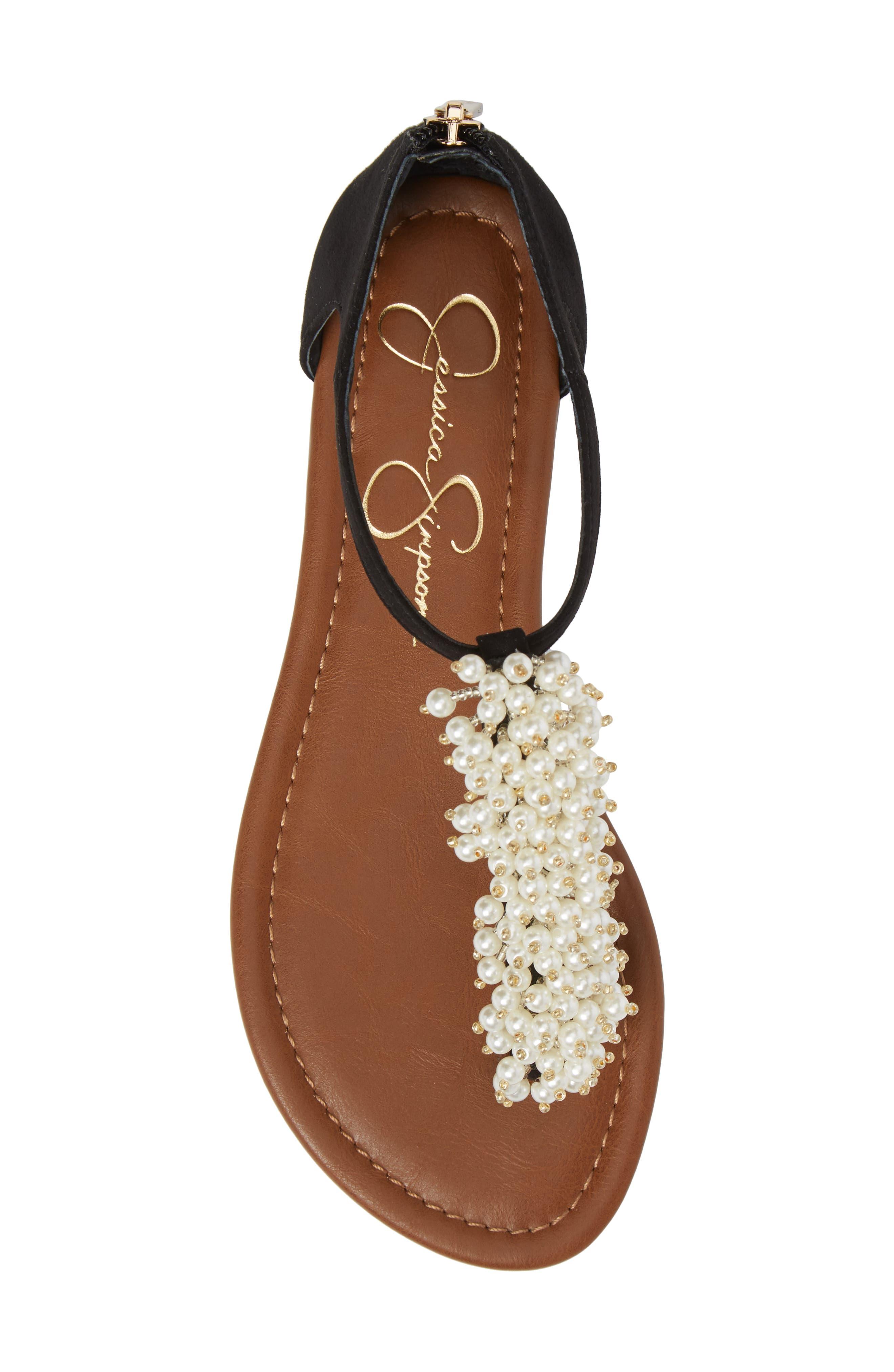 Kenton Crystal Embellished Sandal,                             Alternate thumbnail 5, color,                             001