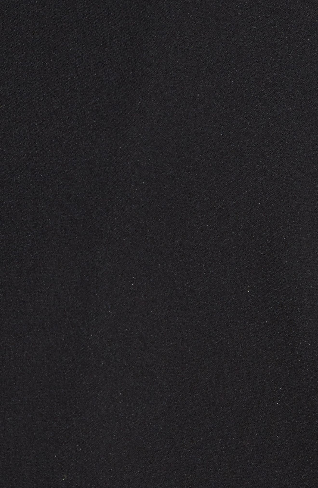 Cassie Bell Sleeve A-Line Dress,                             Alternate thumbnail 5, color,                             001
