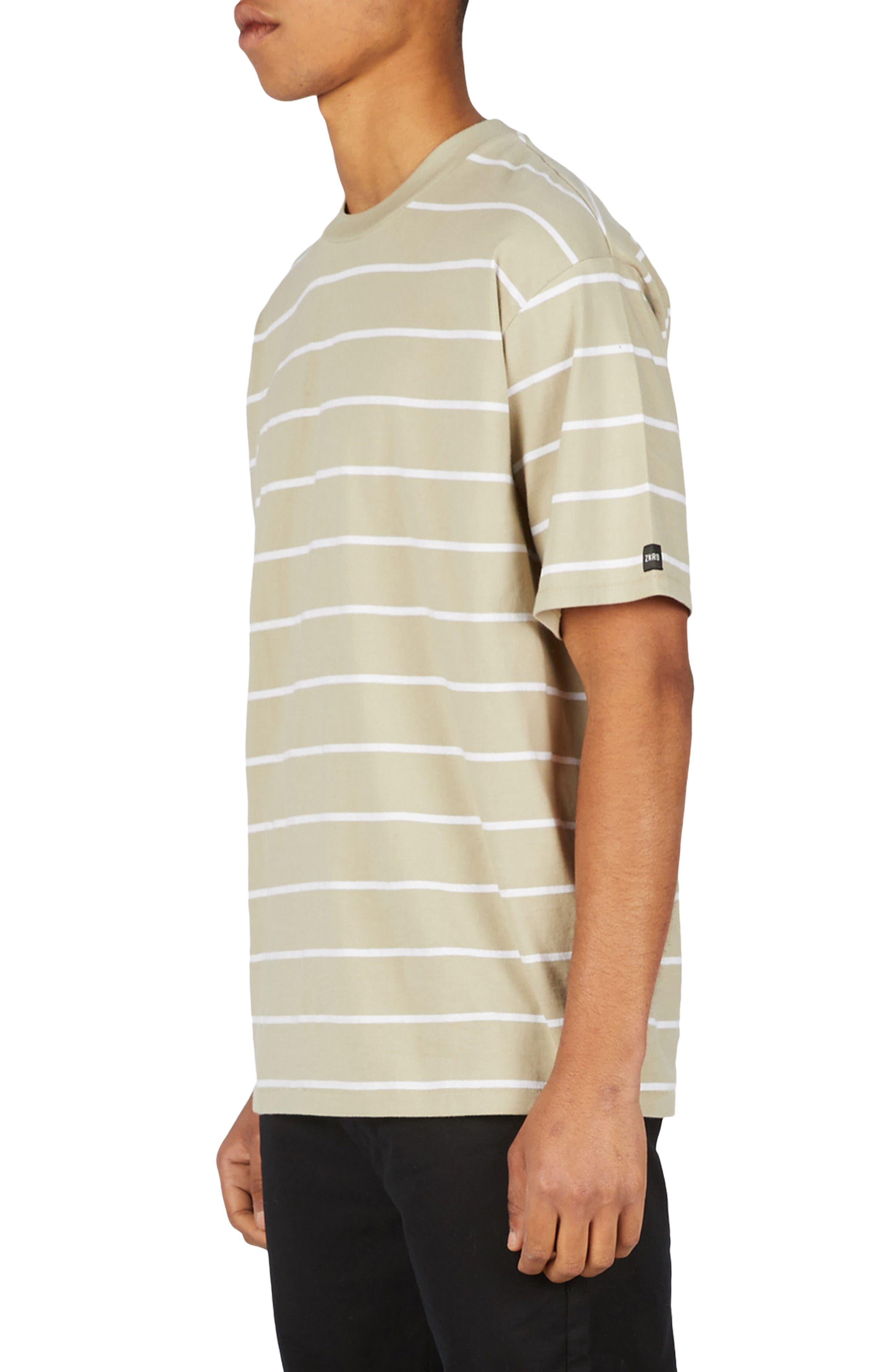 Stripe Box T-Shirt,                             Alternate thumbnail 3, color,                             MOSS/ WHITE