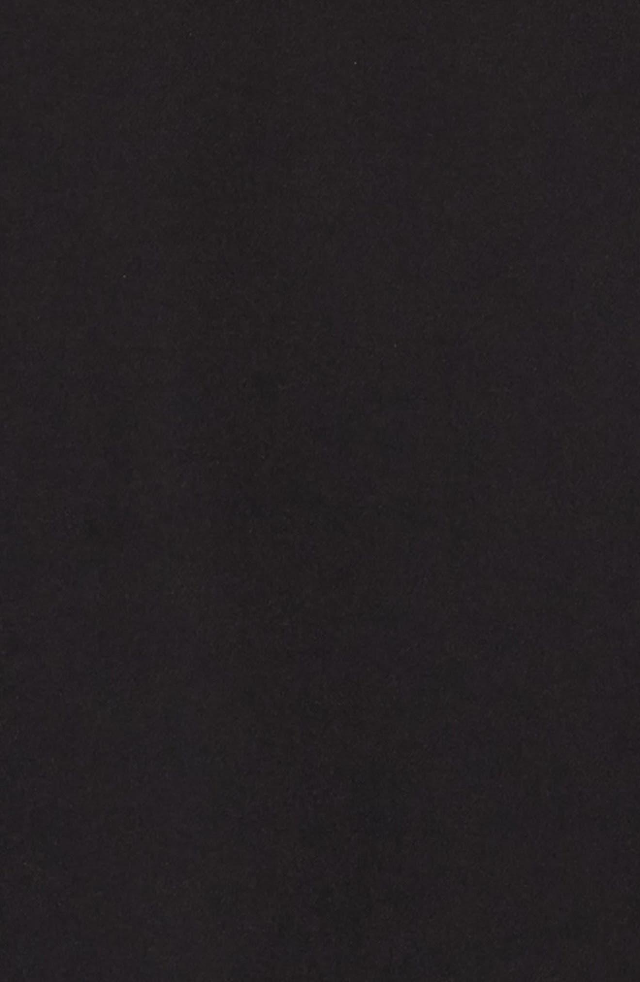 Ruffle Cady Dress,                             Alternate thumbnail 3, color,                             BLACK